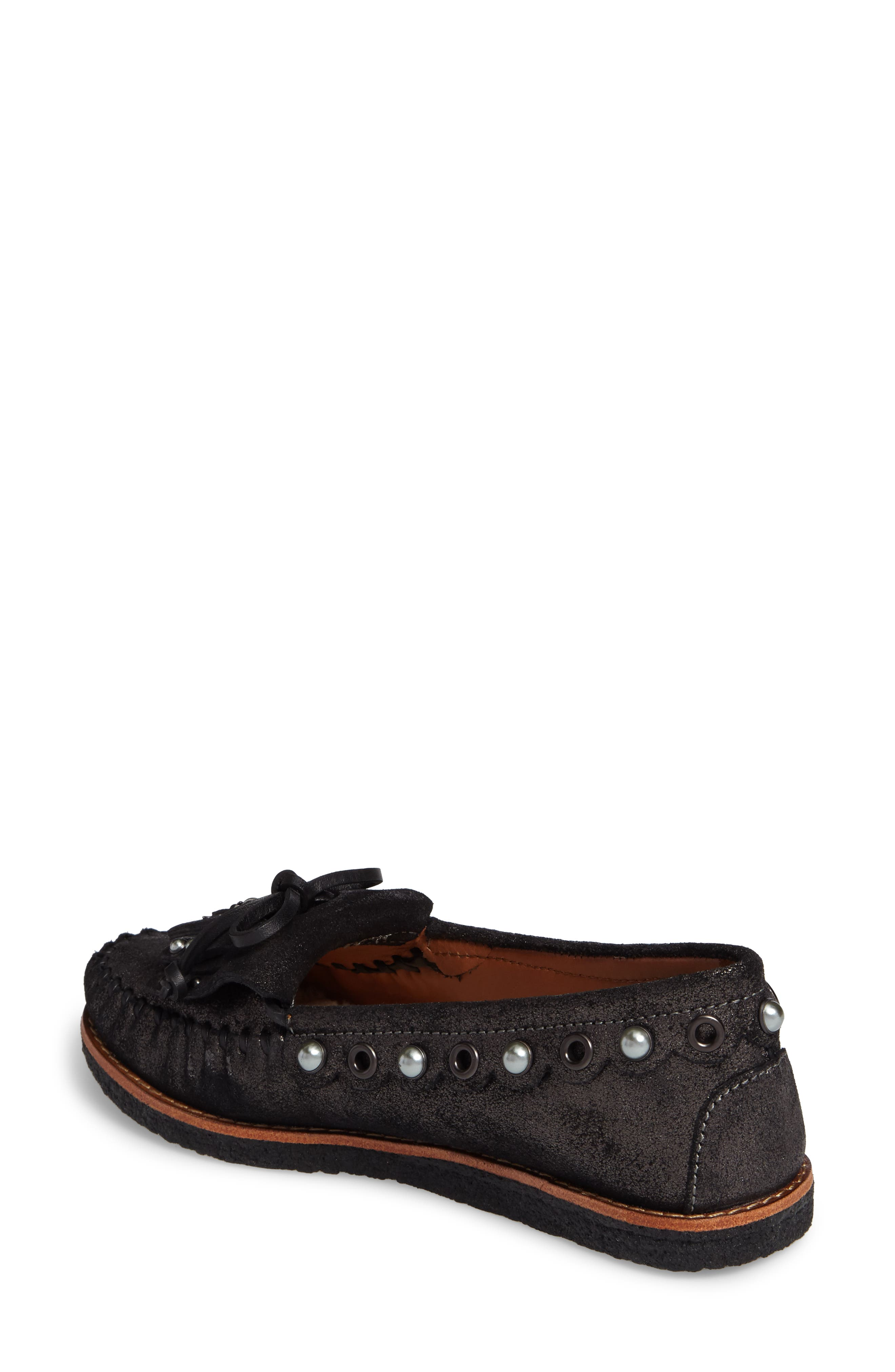 Roccasin Flat,                             Alternate thumbnail 2, color,                             Anthracite Suede