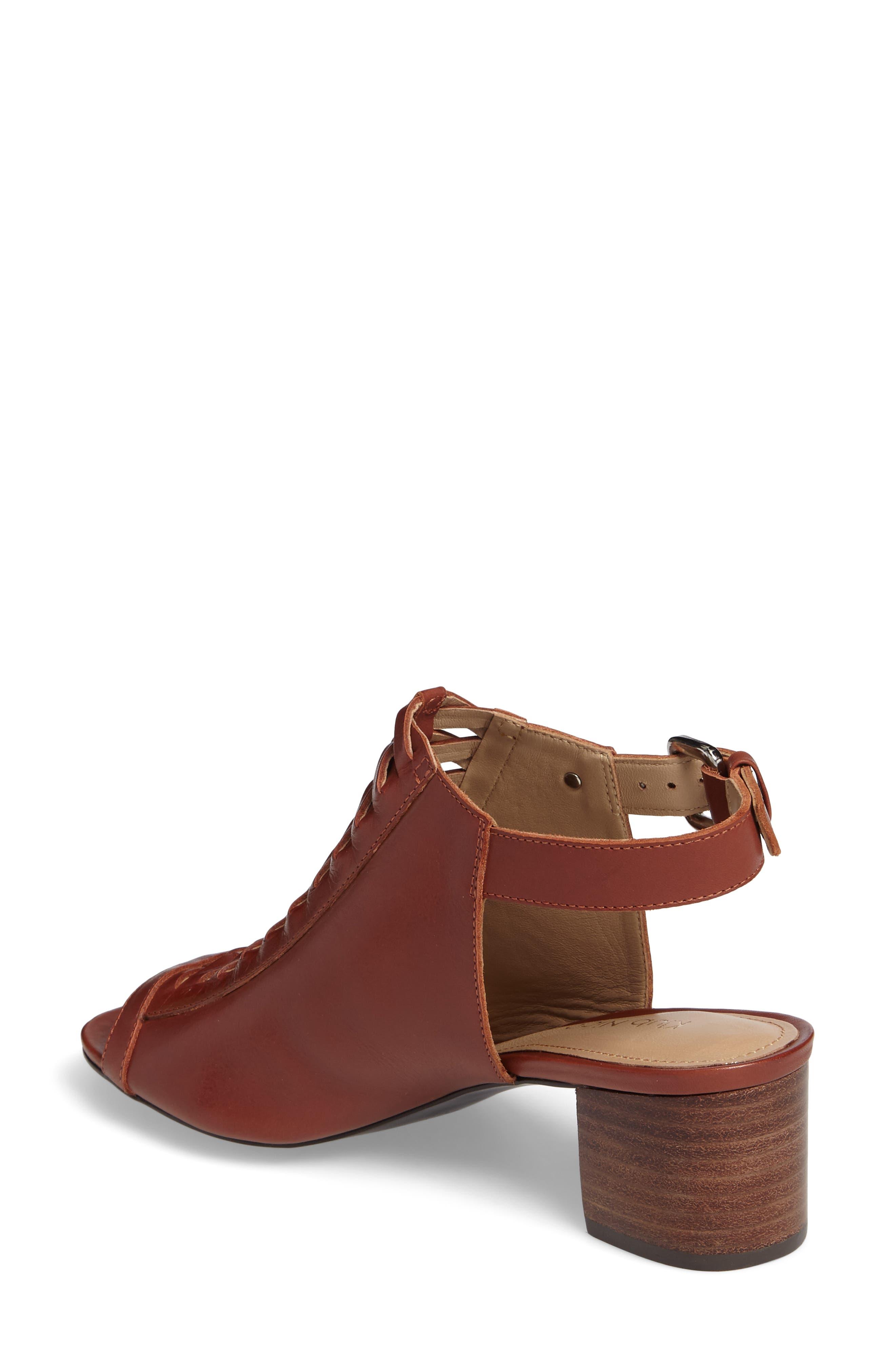 Dallas Woven Sandal,                             Alternate thumbnail 2, color,                             Cognac Leather
