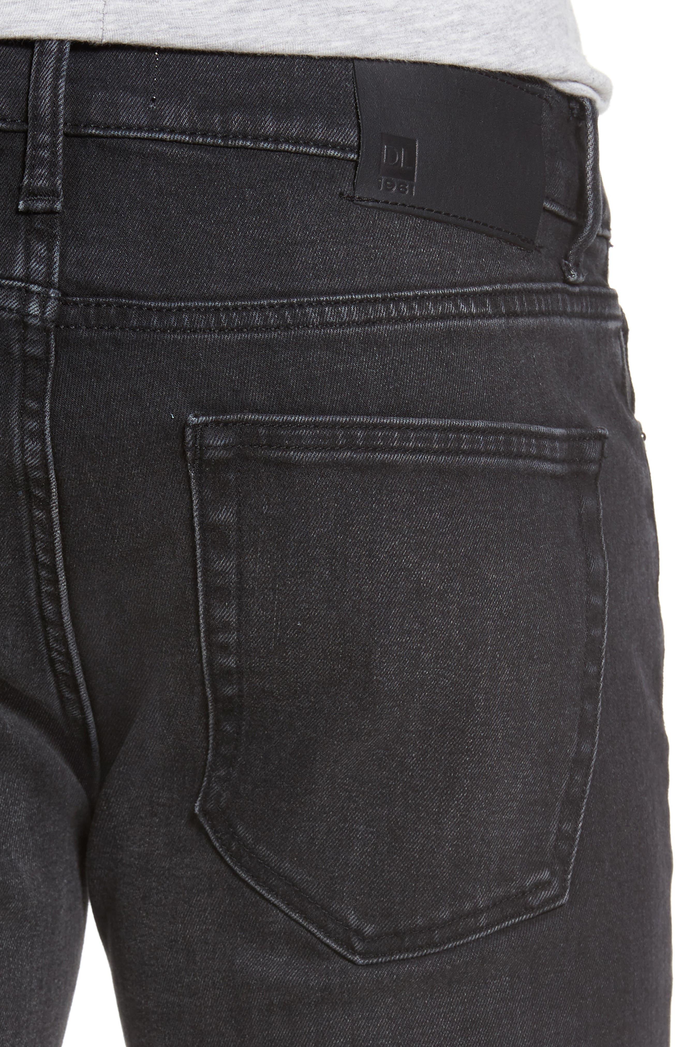 Alternate Image 4  - DL1961 Nick Slim Fit Jeans (Jet)