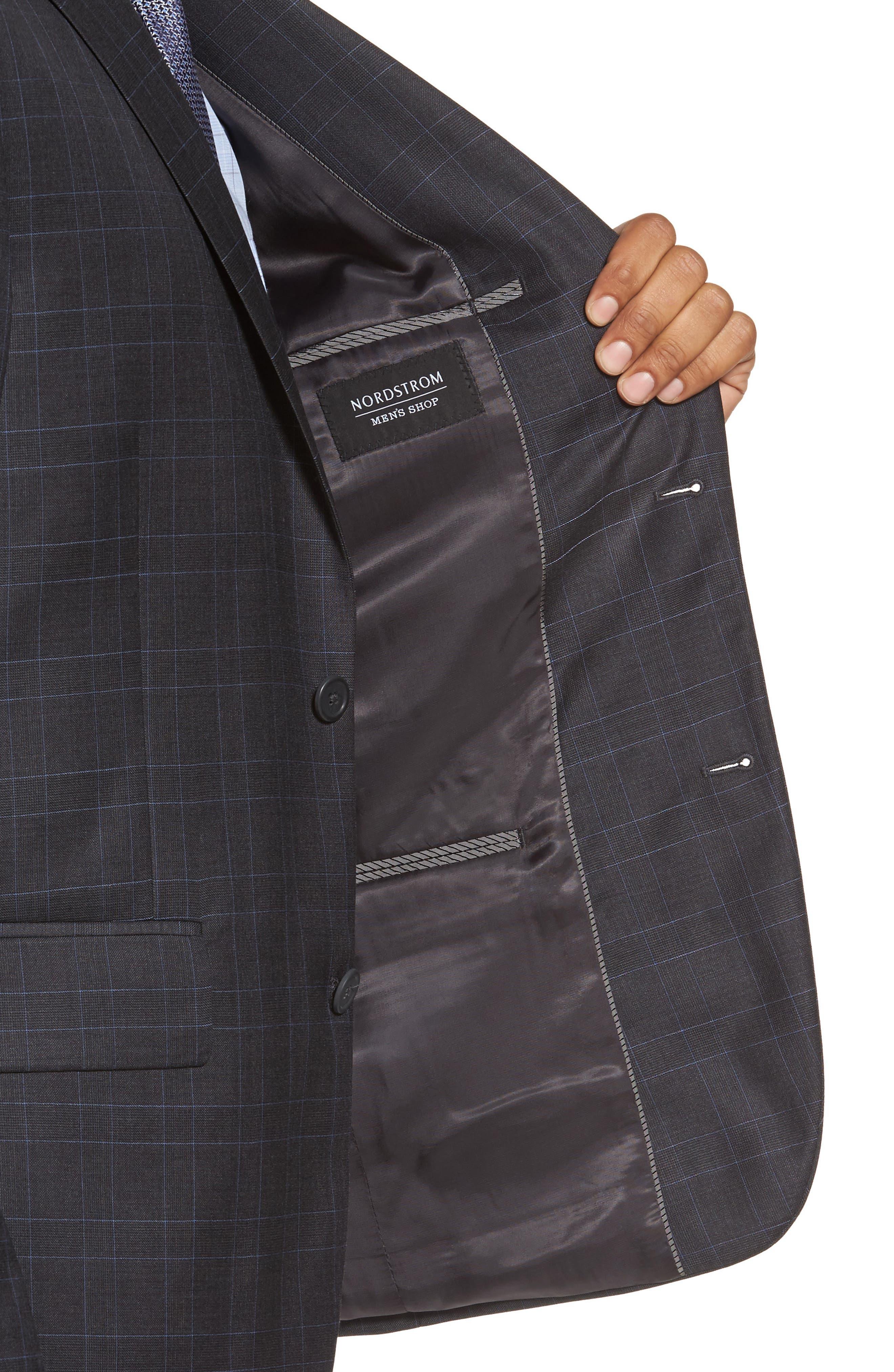 Alternate Image 4  - Nordstrom Men's Shop Classic Fit Plaid Wool Suit