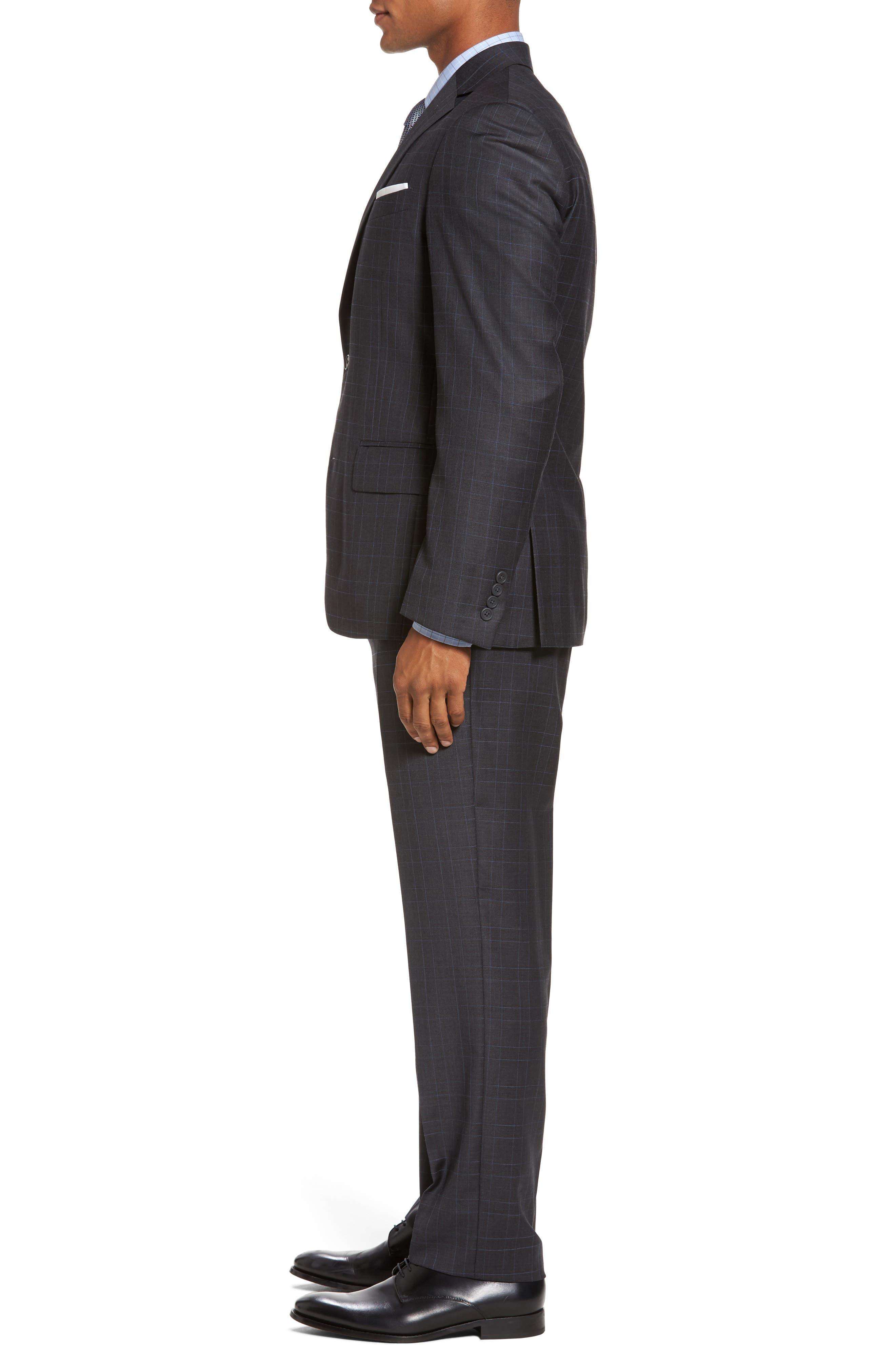 Alternate Image 3  - Nordstrom Men's Shop Classic Fit Plaid Wool Suit