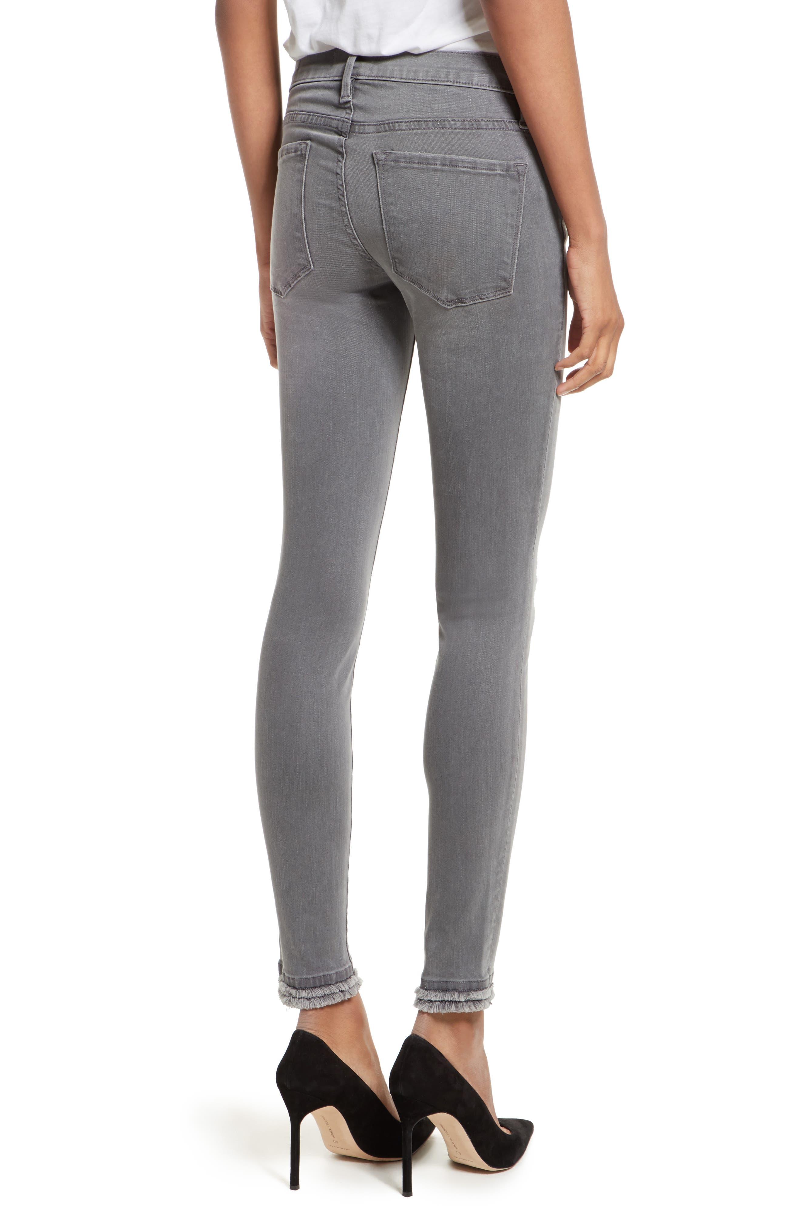 Le Skinny De Jeanne Double Hem Skinny Jeans,                             Alternate thumbnail 2, color,                             Maralago