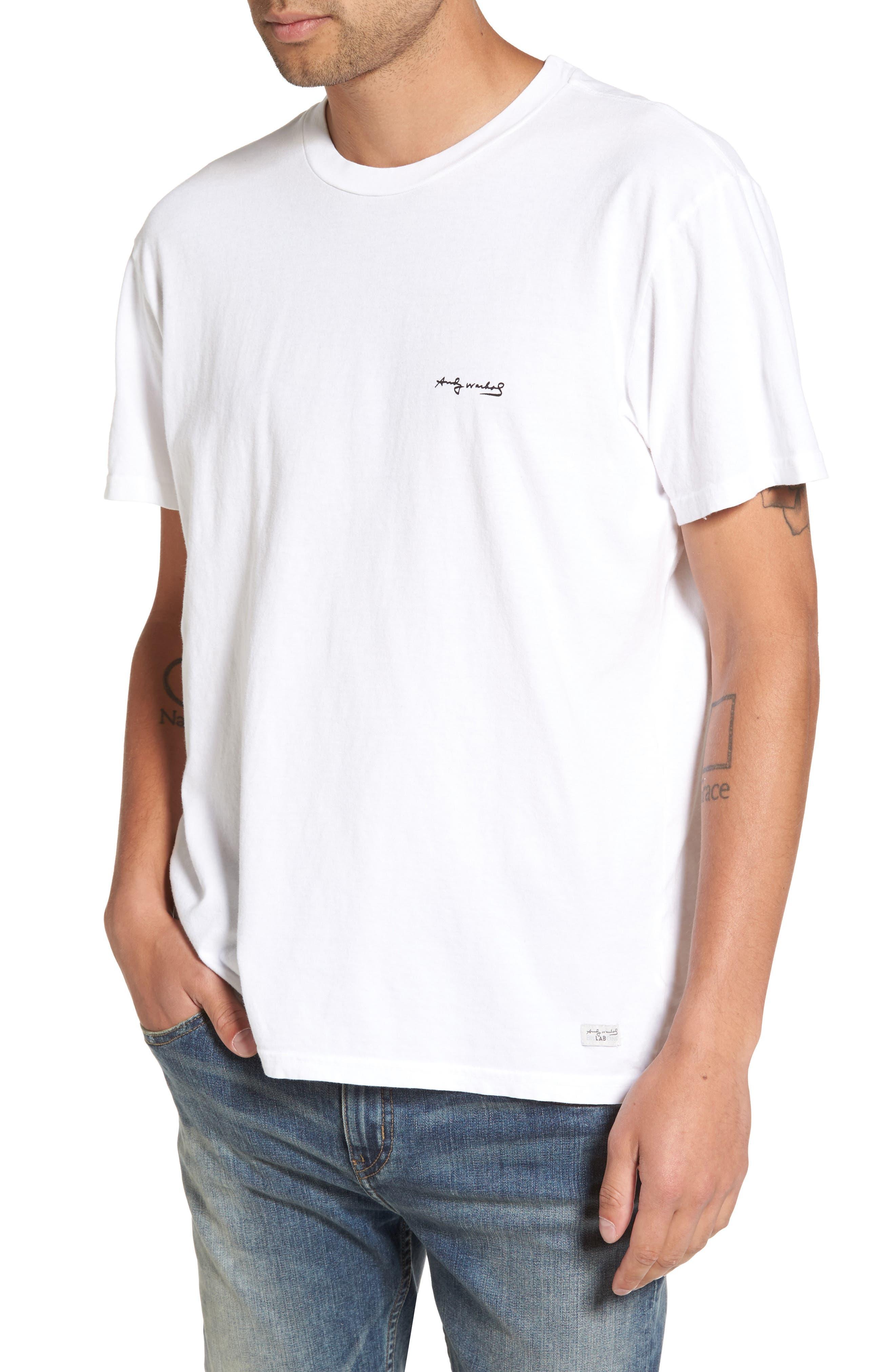 Flowers T-Shirt,                             Main thumbnail 1, color,                             Vintage White