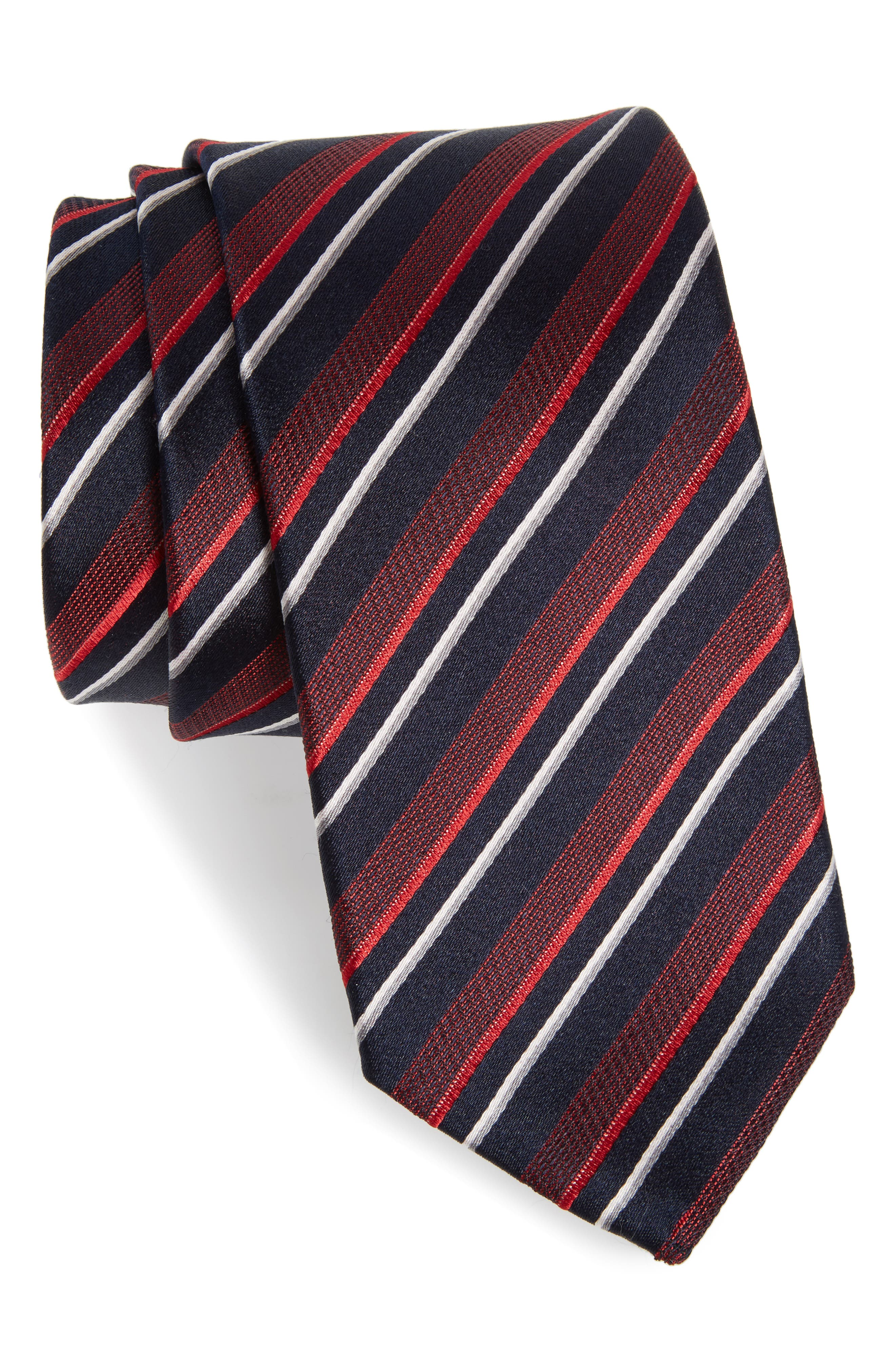 Main Image - BOSS Stripe Silk Tie