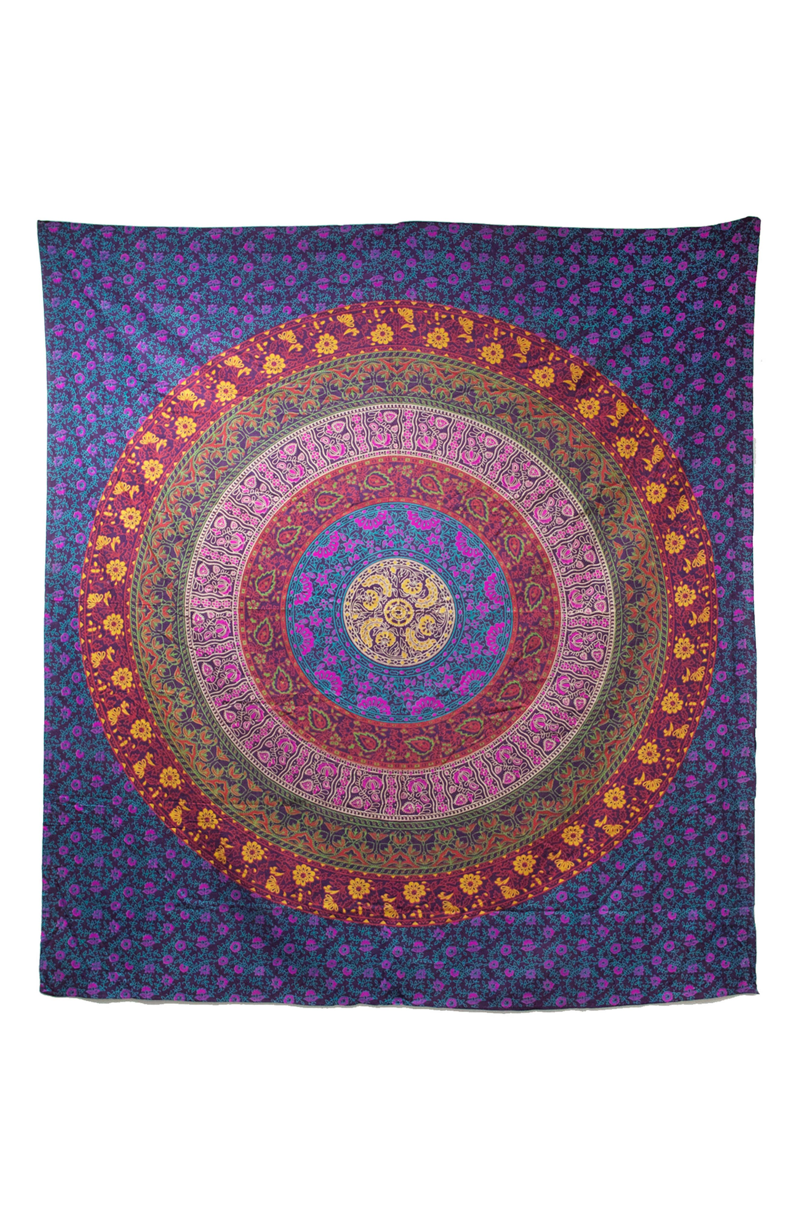 Meher Wall Tapestry,                             Main thumbnail 1, color,                             Purple