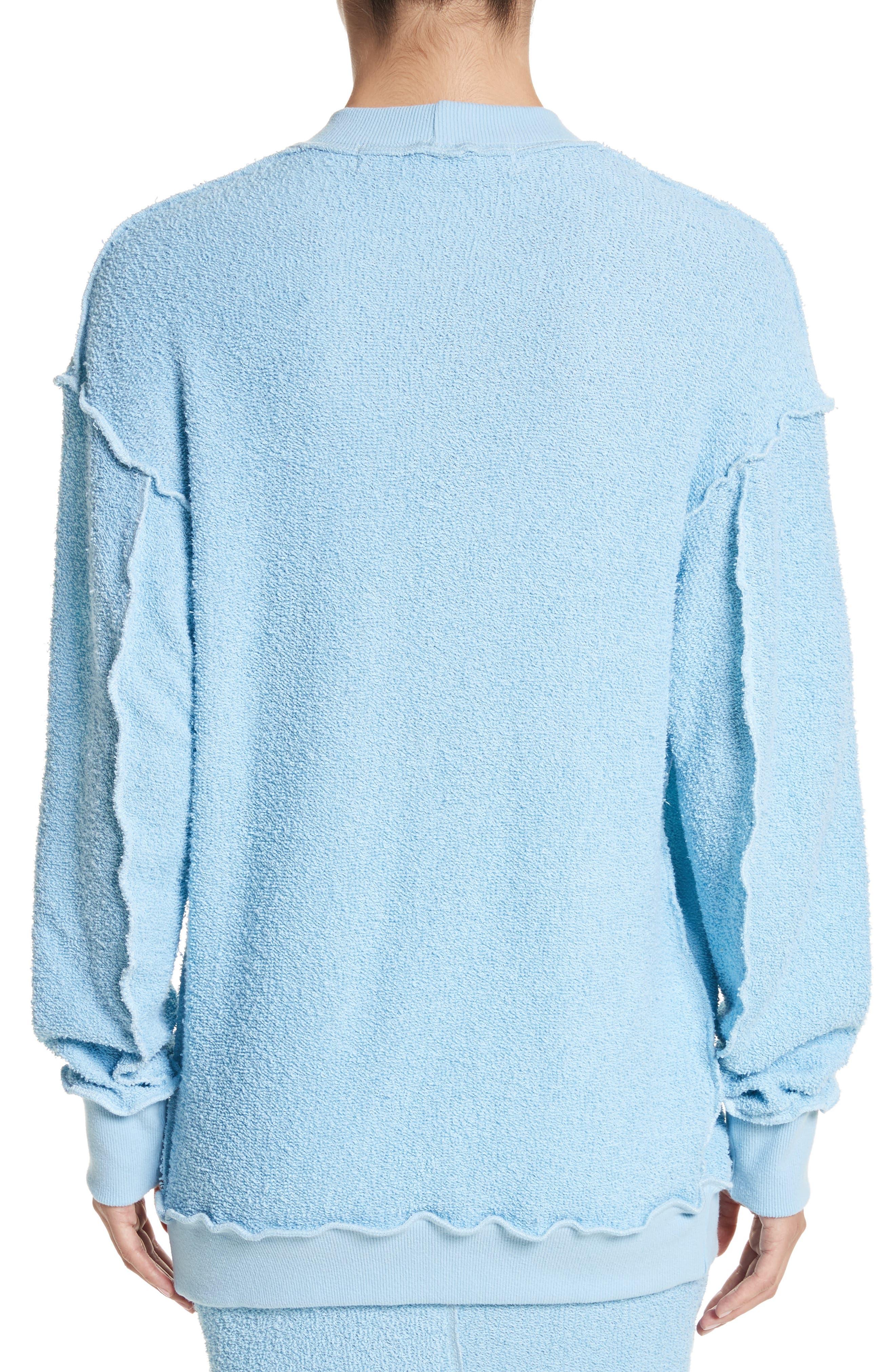 Alternate Image 2  - Eckhaus Latta Drop Shoulder Reverse Terry Sweatshirt