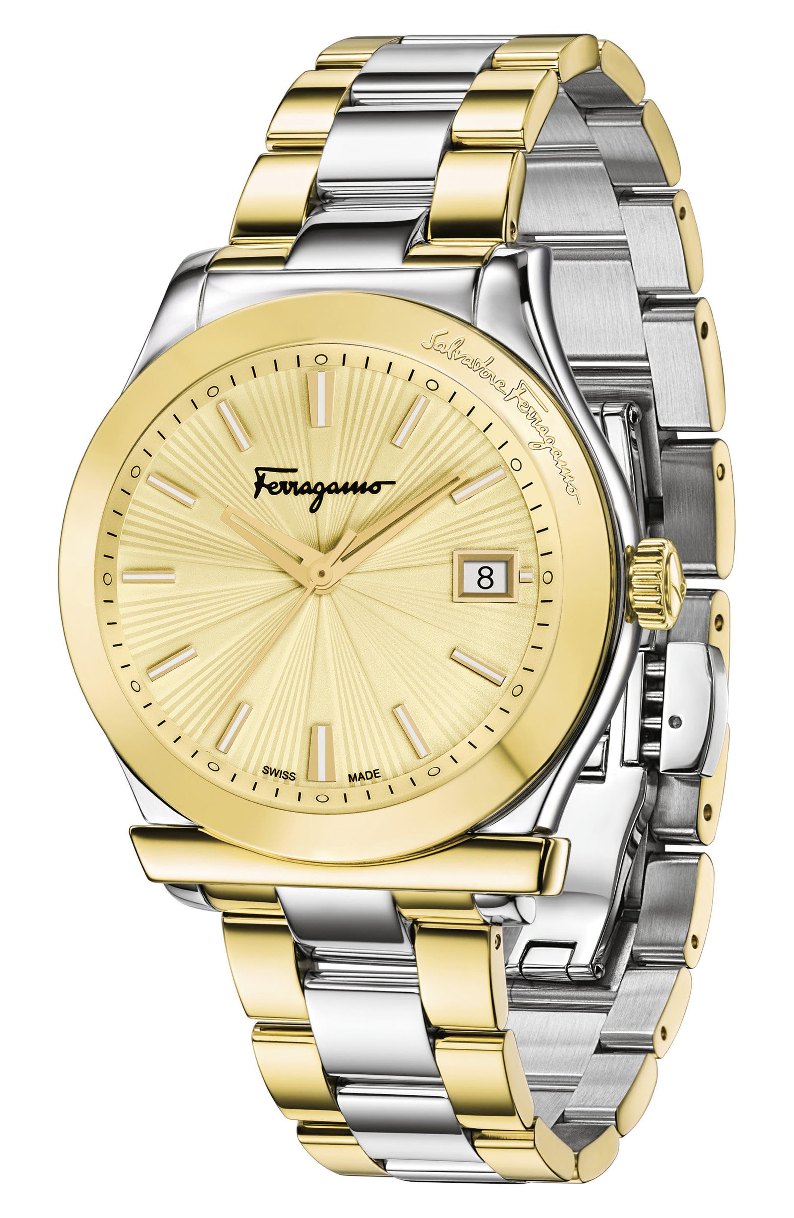 Alternate Image 4  - Salvatore Ferragamo 1898 Bracelet Watch, 40mm