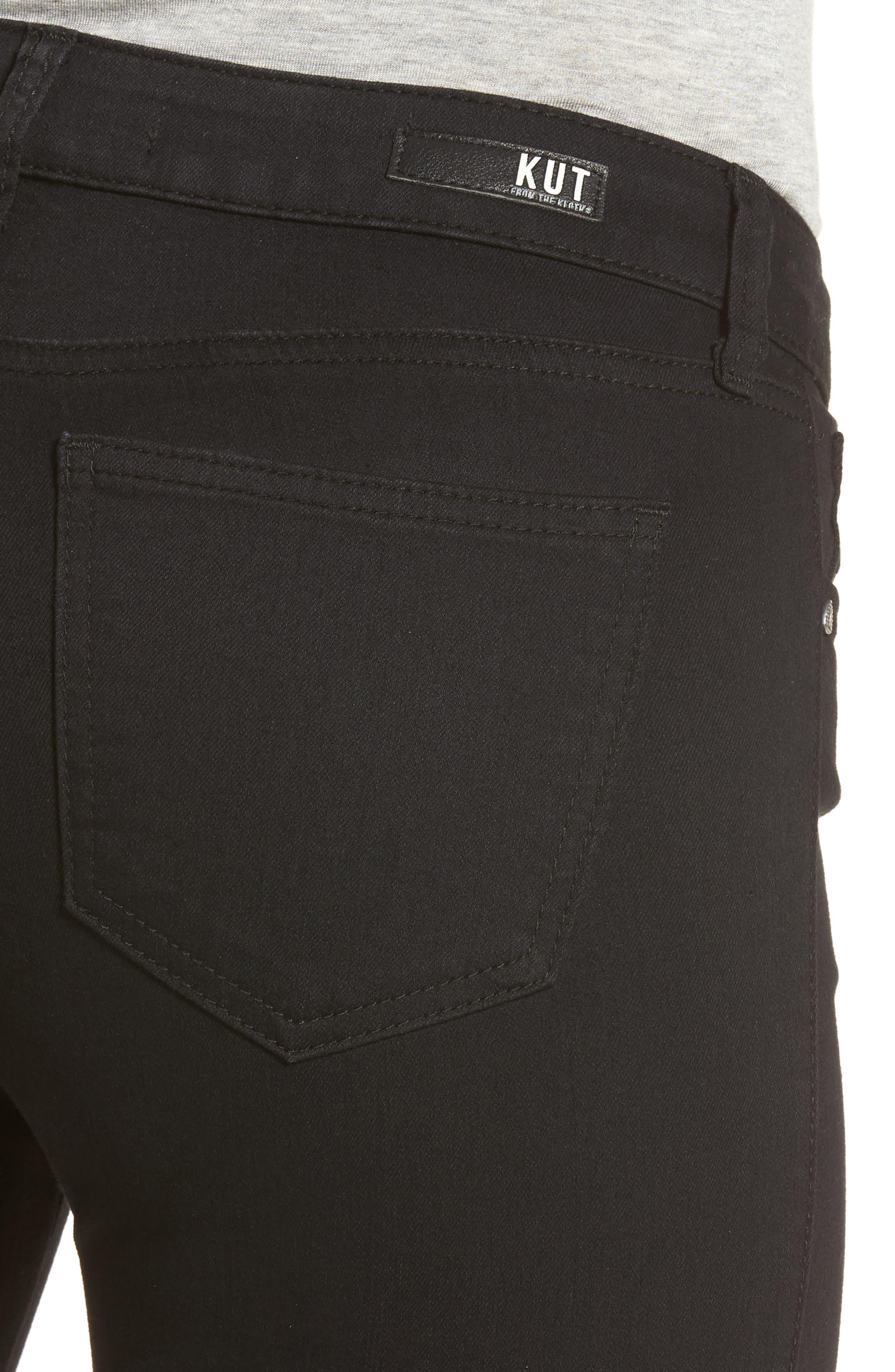 Diana Curvy Fit Skinny Jeans,                             Alternate thumbnail 4, color,                             Black