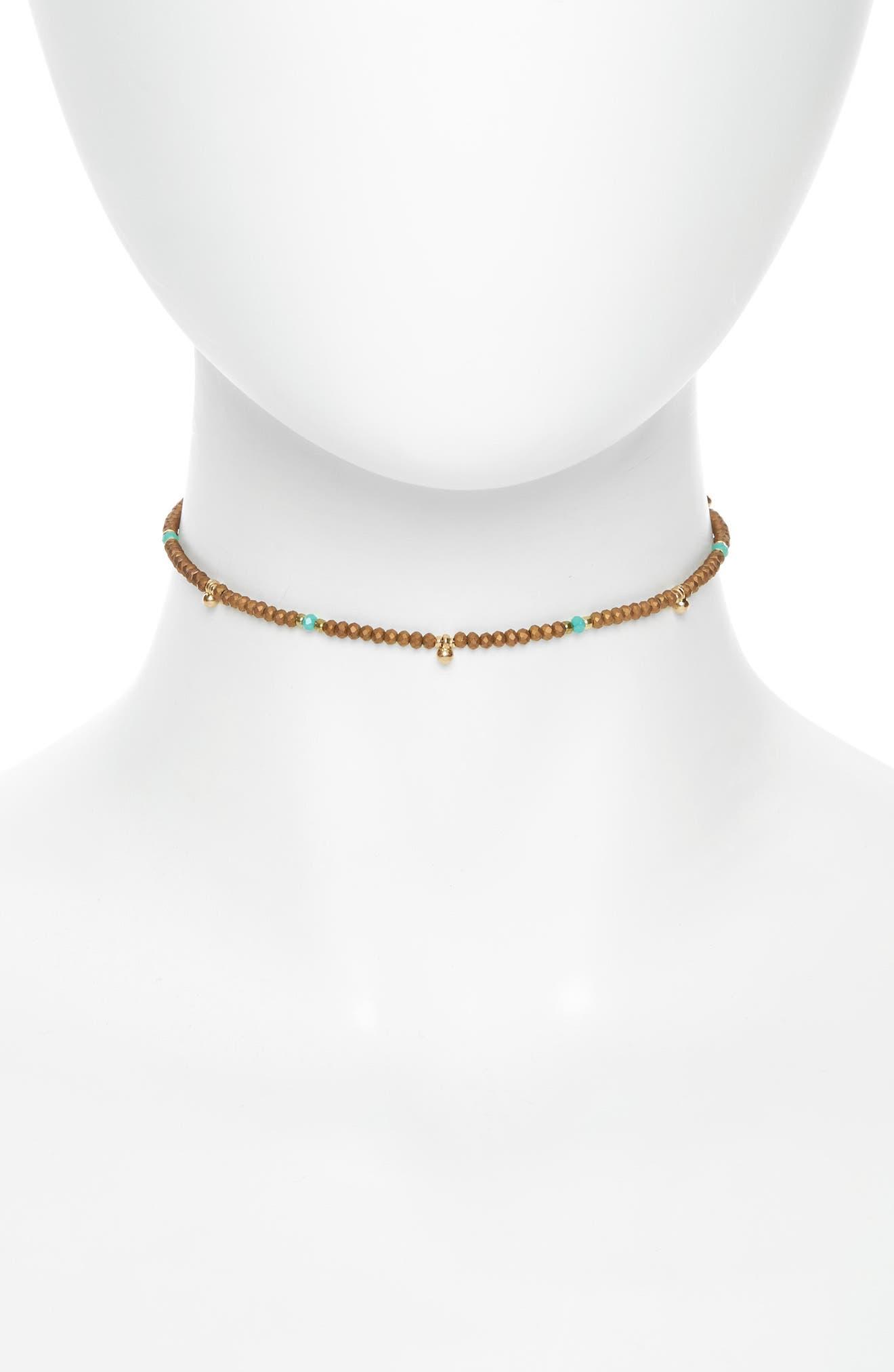 Main Image - Canvas Jewelry Beaded Tassel Choker