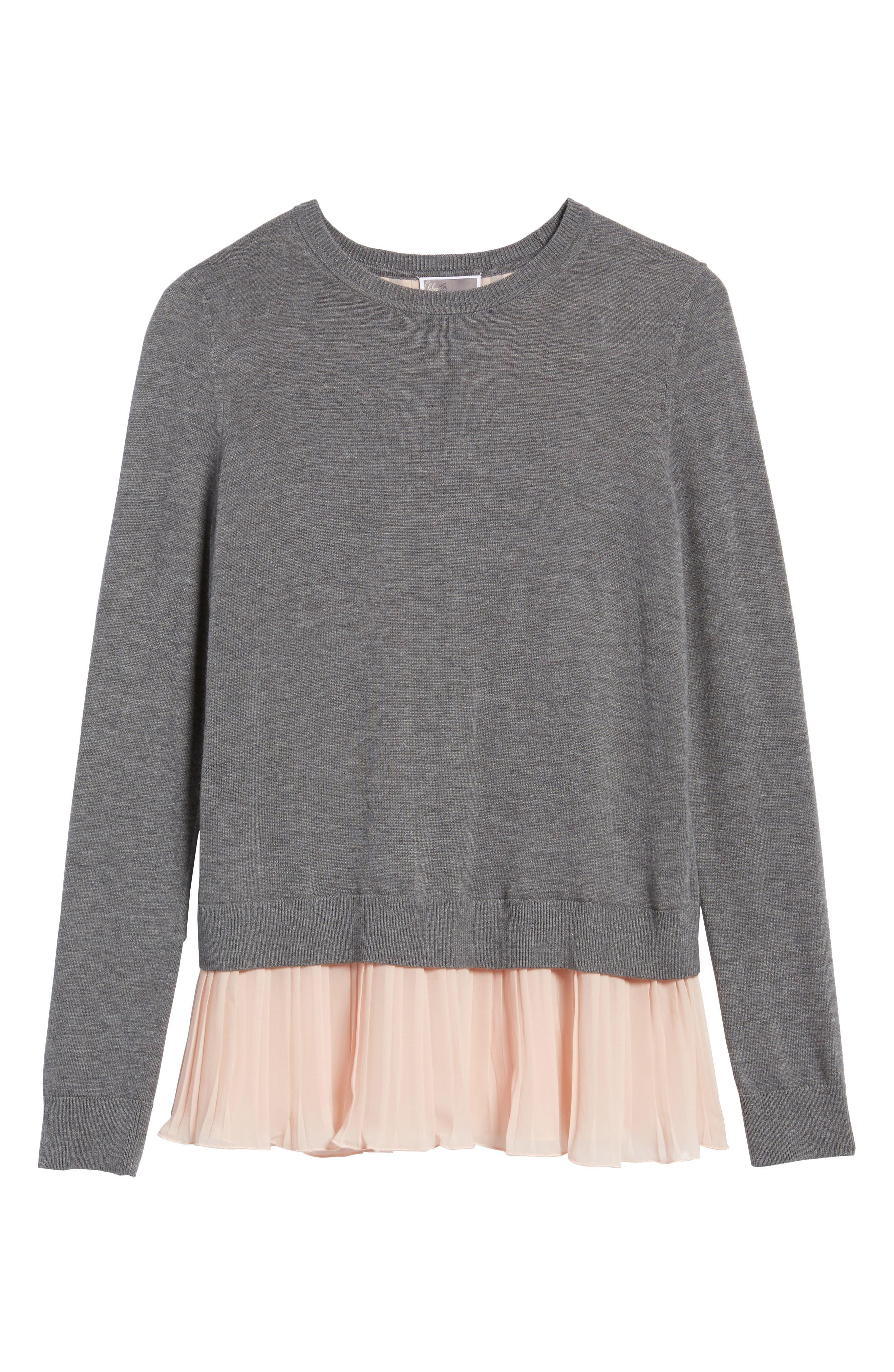 Alternate Image 6  - Chelsea28 Pleated Hem Sweater