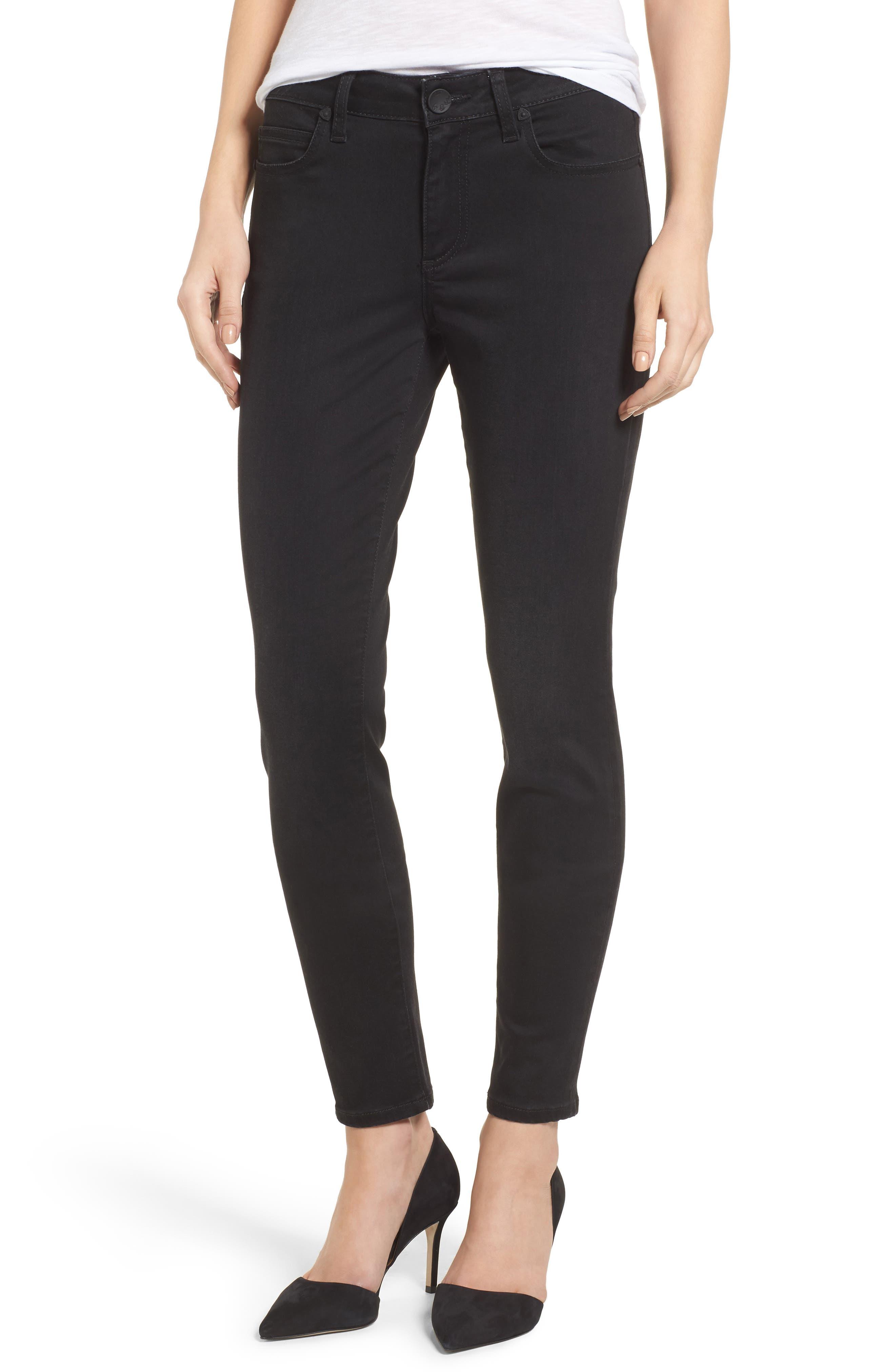 Mia Curvy Fit Skinny Jeans,                         Main,                         color, Black