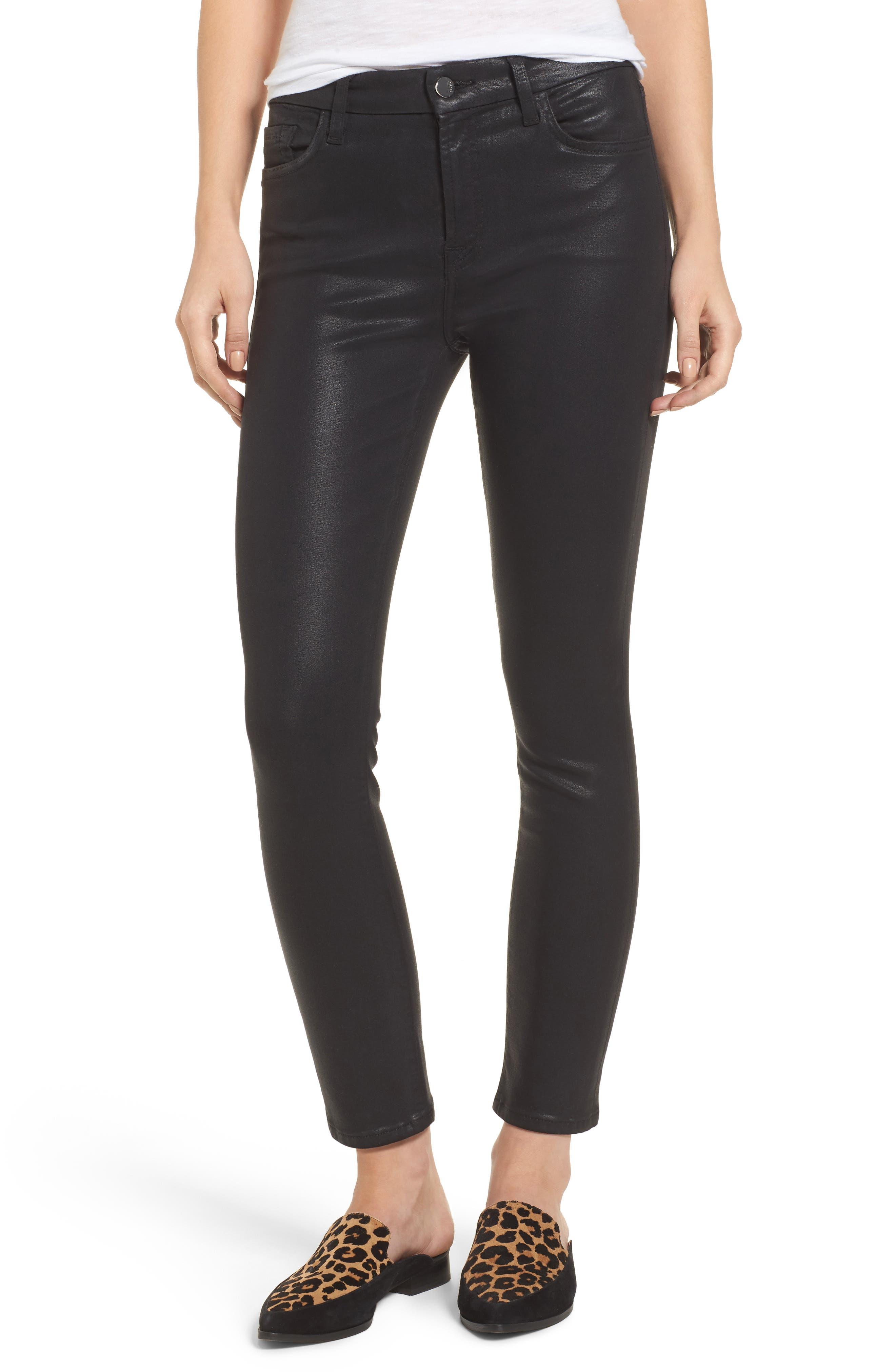 Jen7 Coated Skinny Jeans