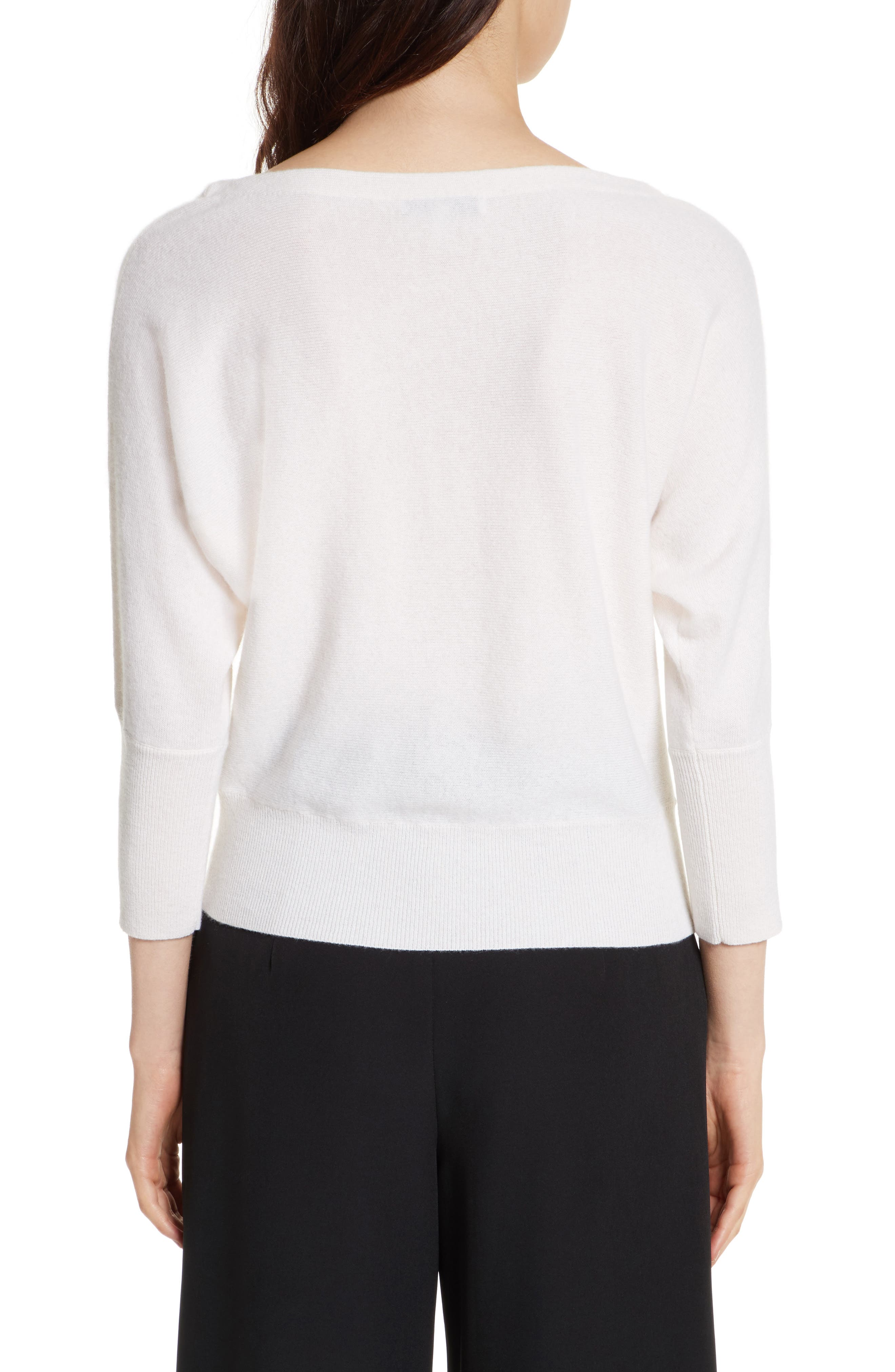 Alternate Image 2  - Milly Dolman Cashmere Sweater