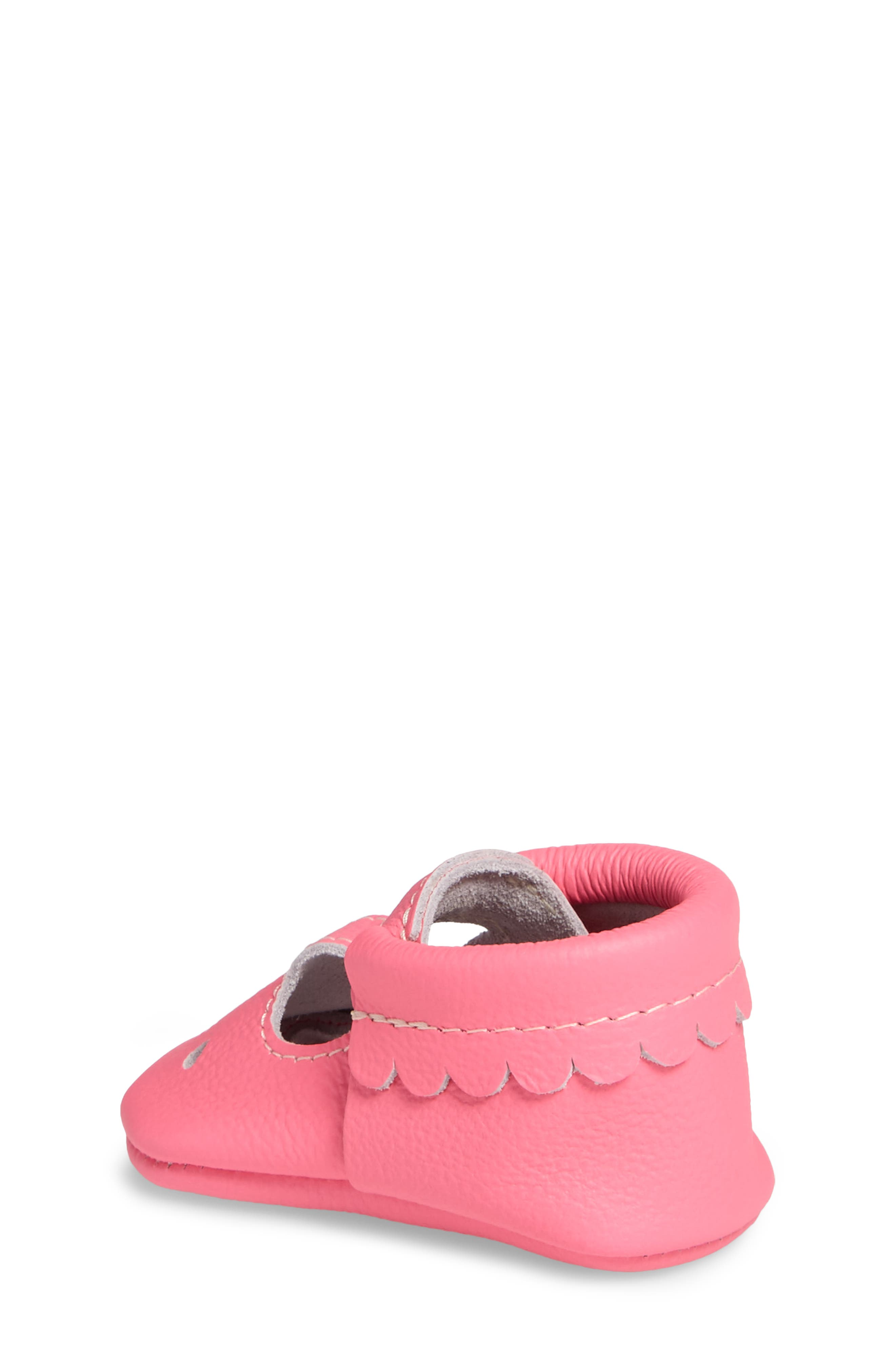 Perforated Mary Jane Moccasin,                             Alternate thumbnail 2, color,                             Neon Pink Leather