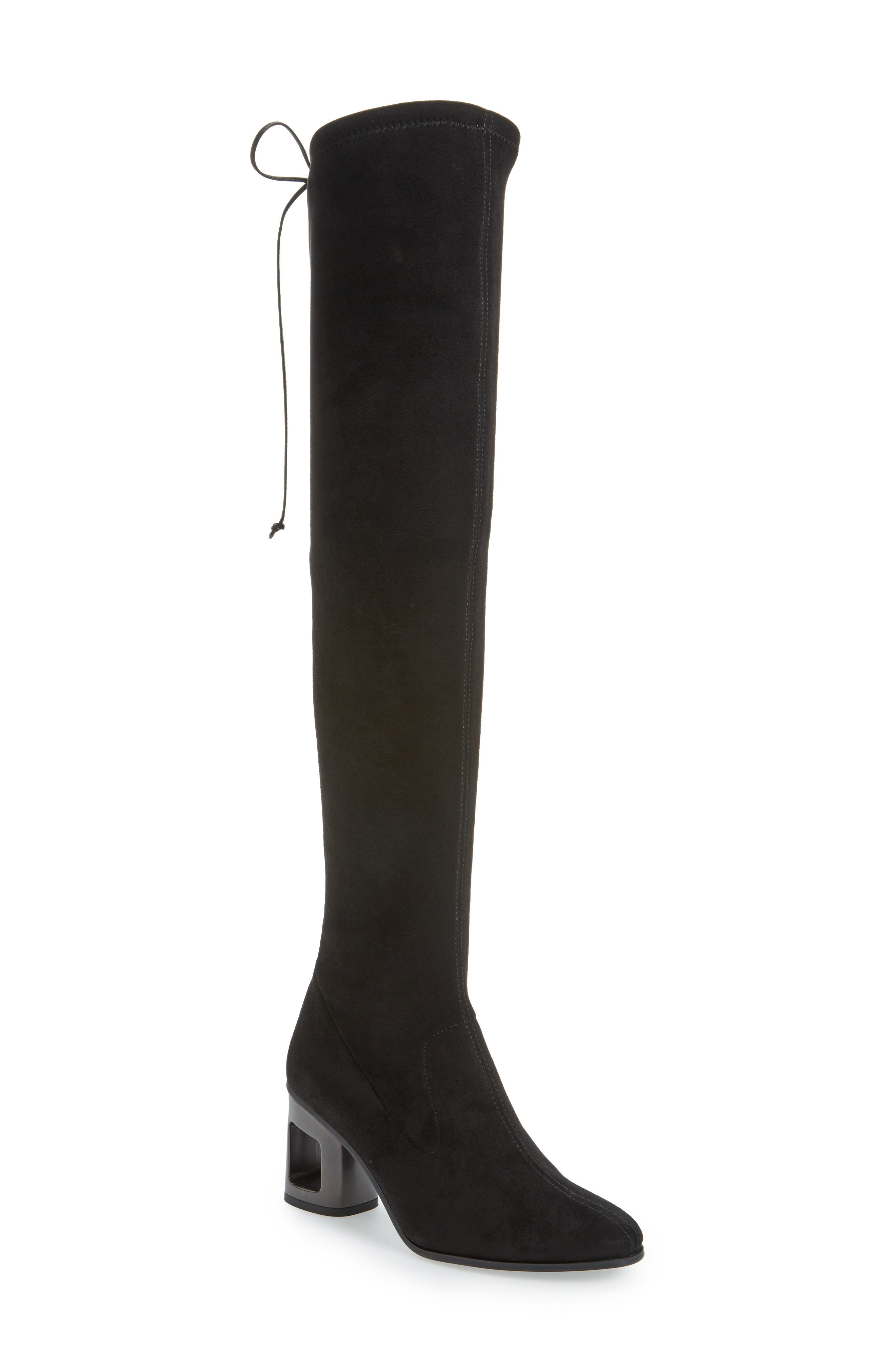 Melina Over the Knee Boot,                             Main thumbnail 1, color,                             Black Leather