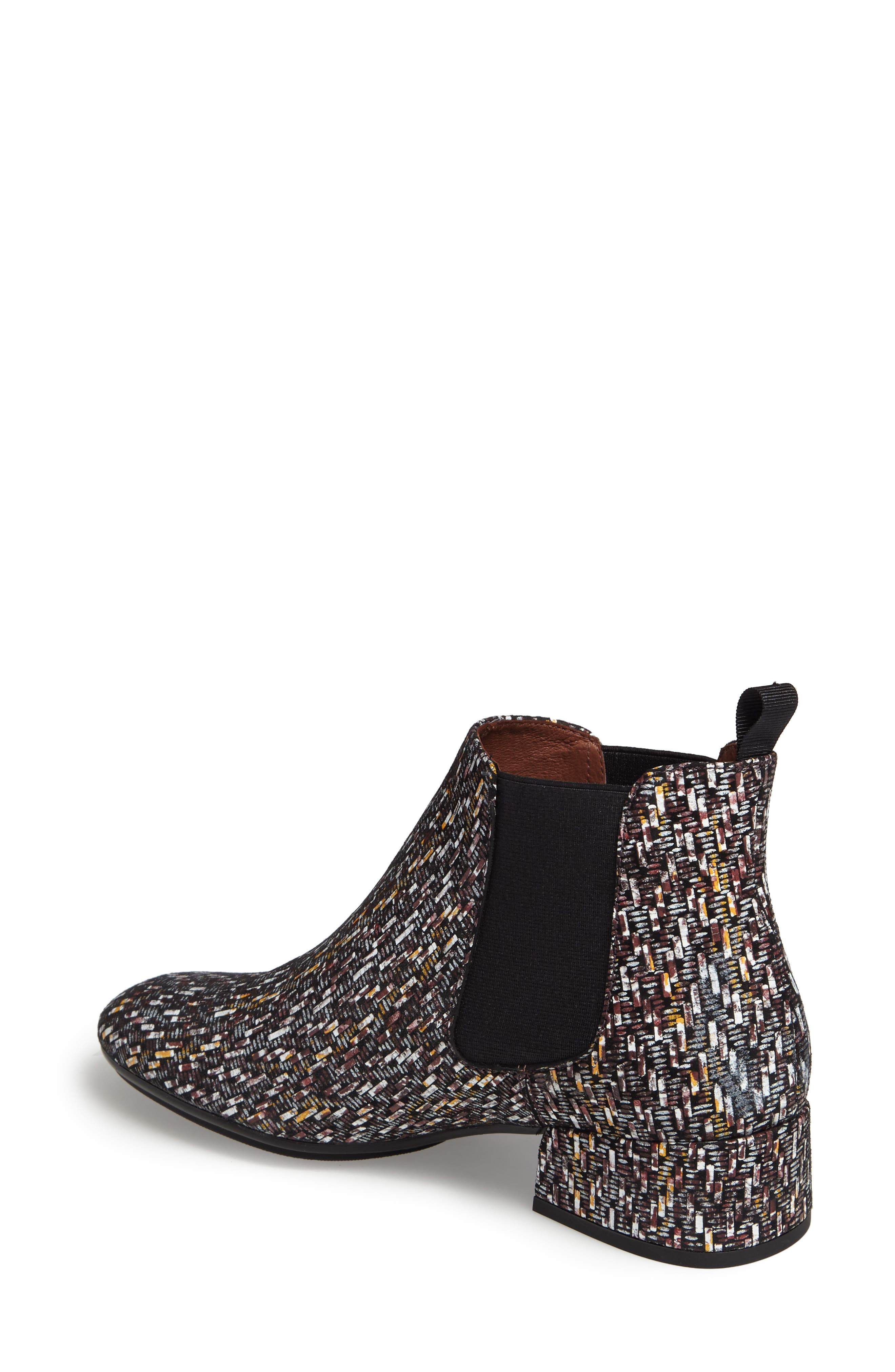 Ellys Patterned Chelsea Bootie,                             Alternate thumbnail 2, color,                             Bordo Leather