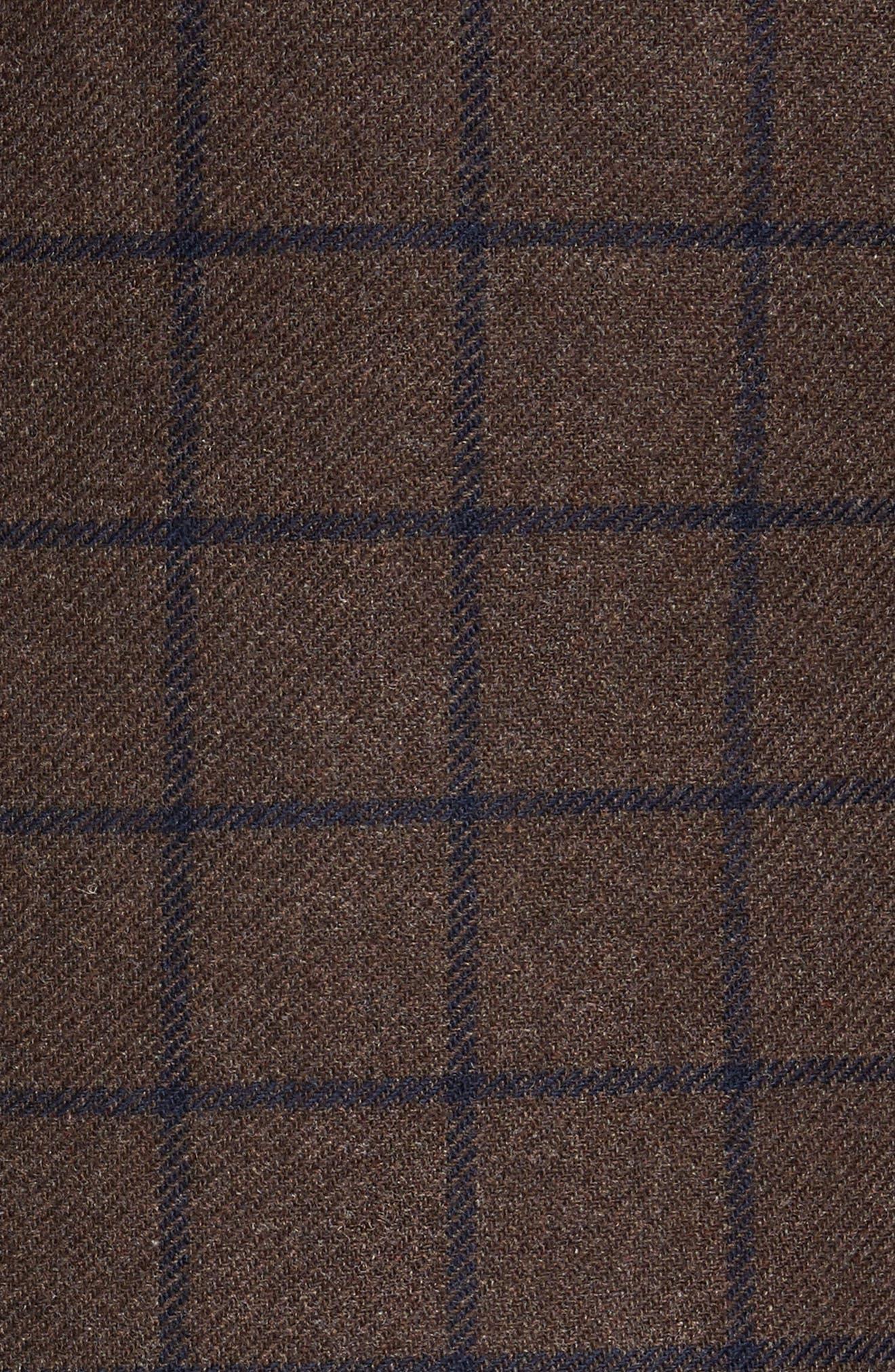 Alternate Image 5  - JKT New York Trim Fit Windowpane Wool Blend Sport Coat