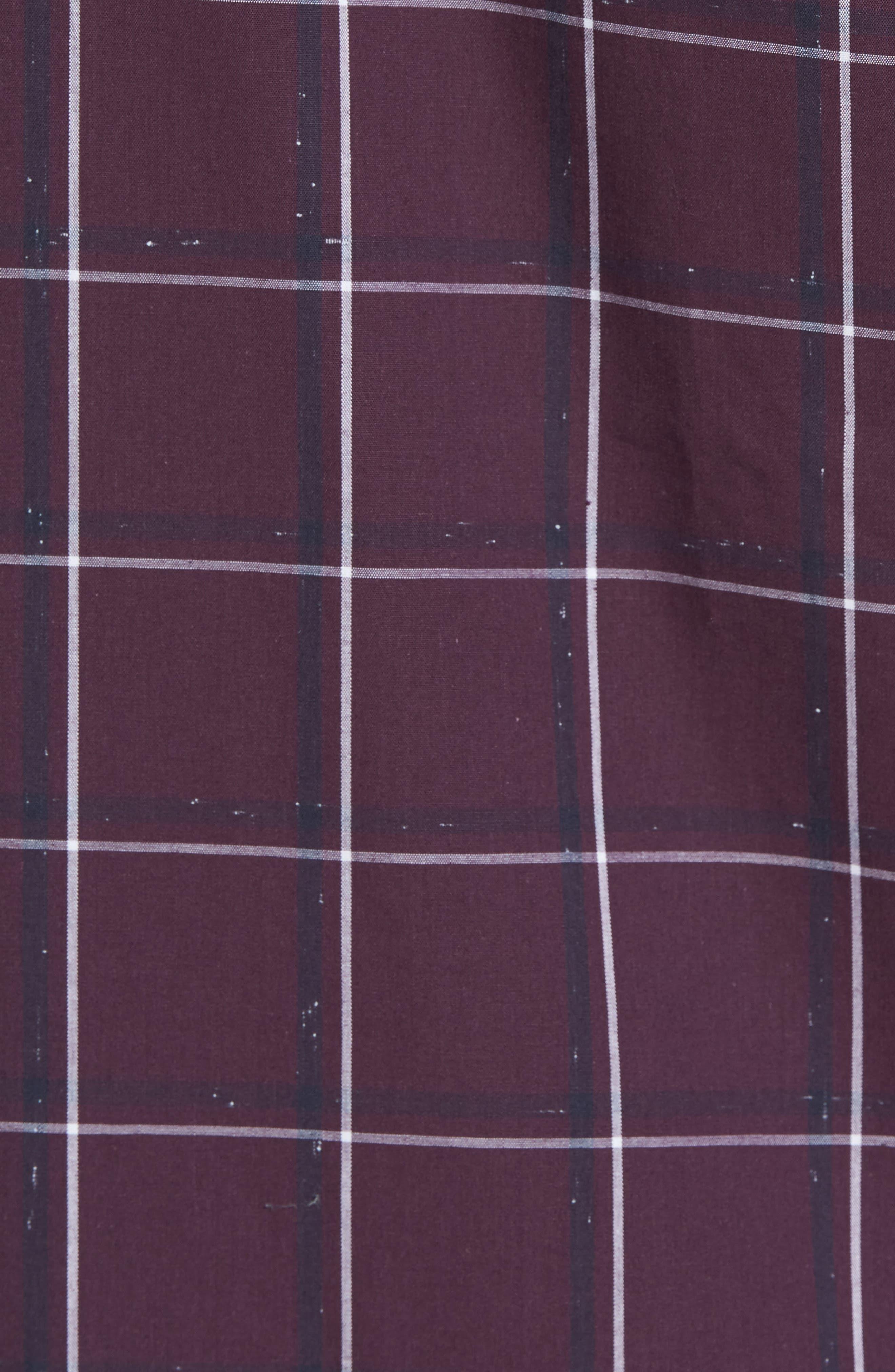 Check Sport Shirt,                             Alternate thumbnail 6, color,                             Purple Plum White Grid