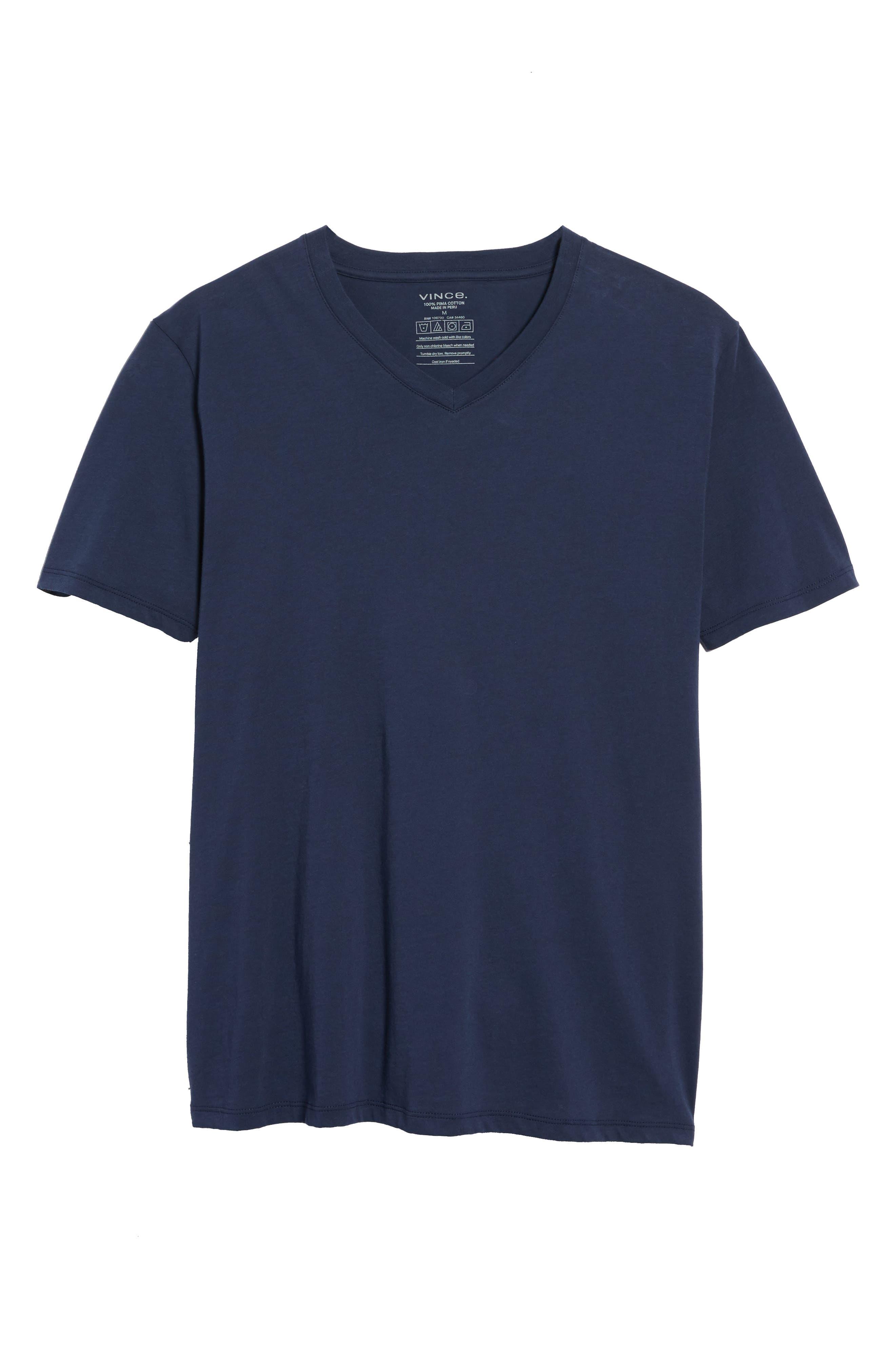 Regular Fit V-Neck T-Shirt,                             Alternate thumbnail 5, color,                             Starry Night