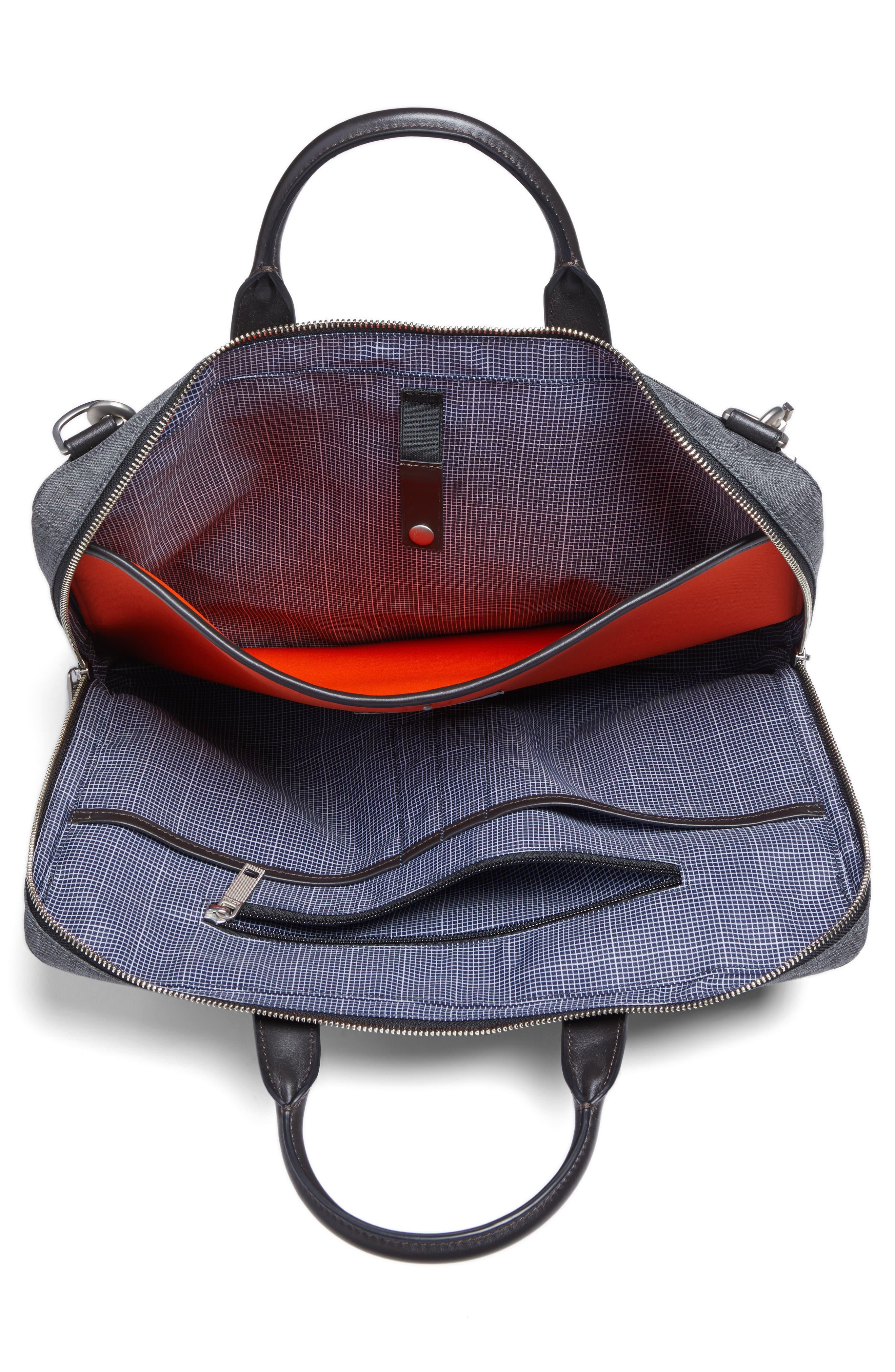 Tech Oxford Briefcase,                             Alternate thumbnail 4, color,                             Grey