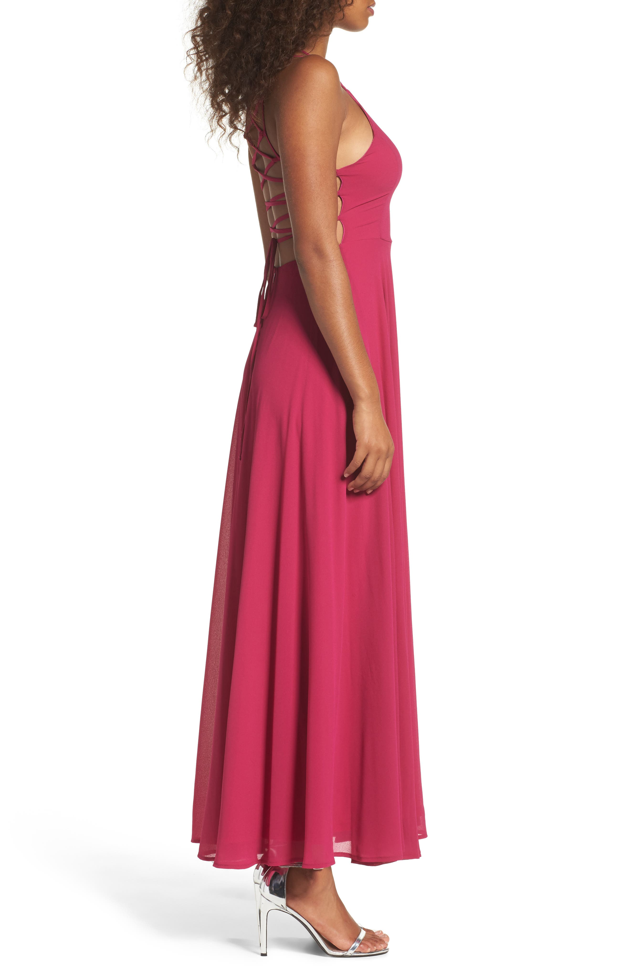 Alternate Image 3  - Lulus Strappy To Be Here Lace-Up Back Gown