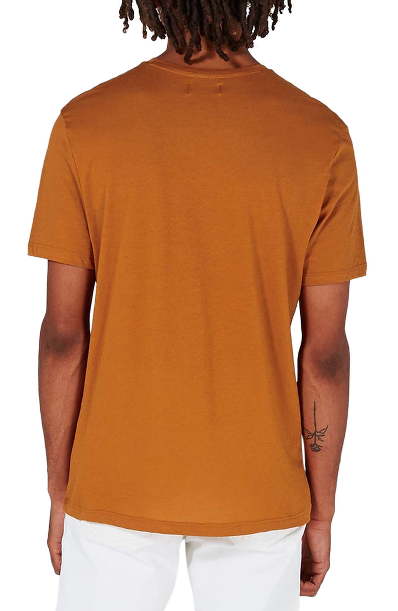 Crewneck T-Shirt,                             Alternate thumbnail 2, color,                             Rust Orange