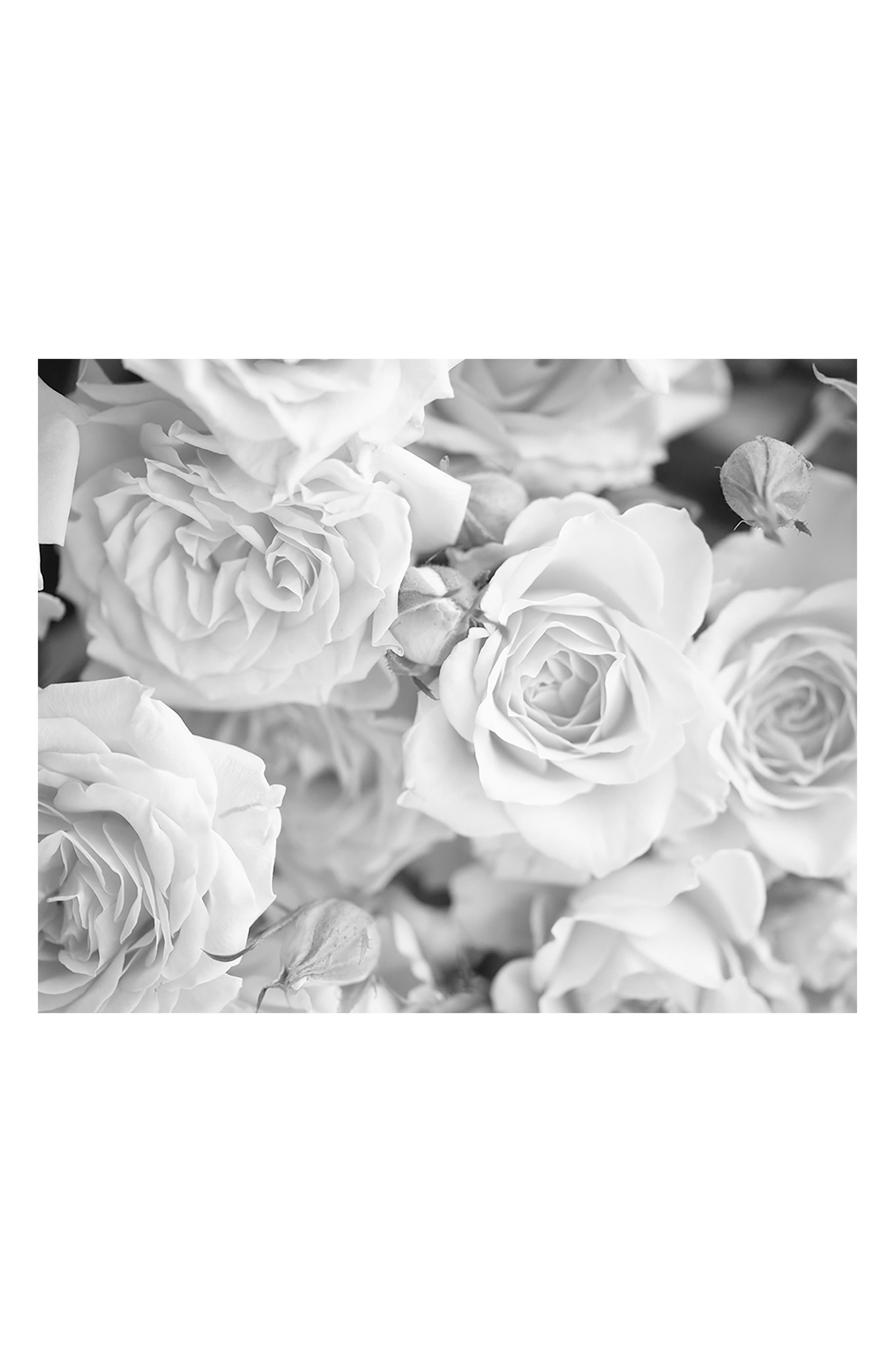 Grey Petals 6-Panel Wall Mural,                         Main,                         color, White Off-White