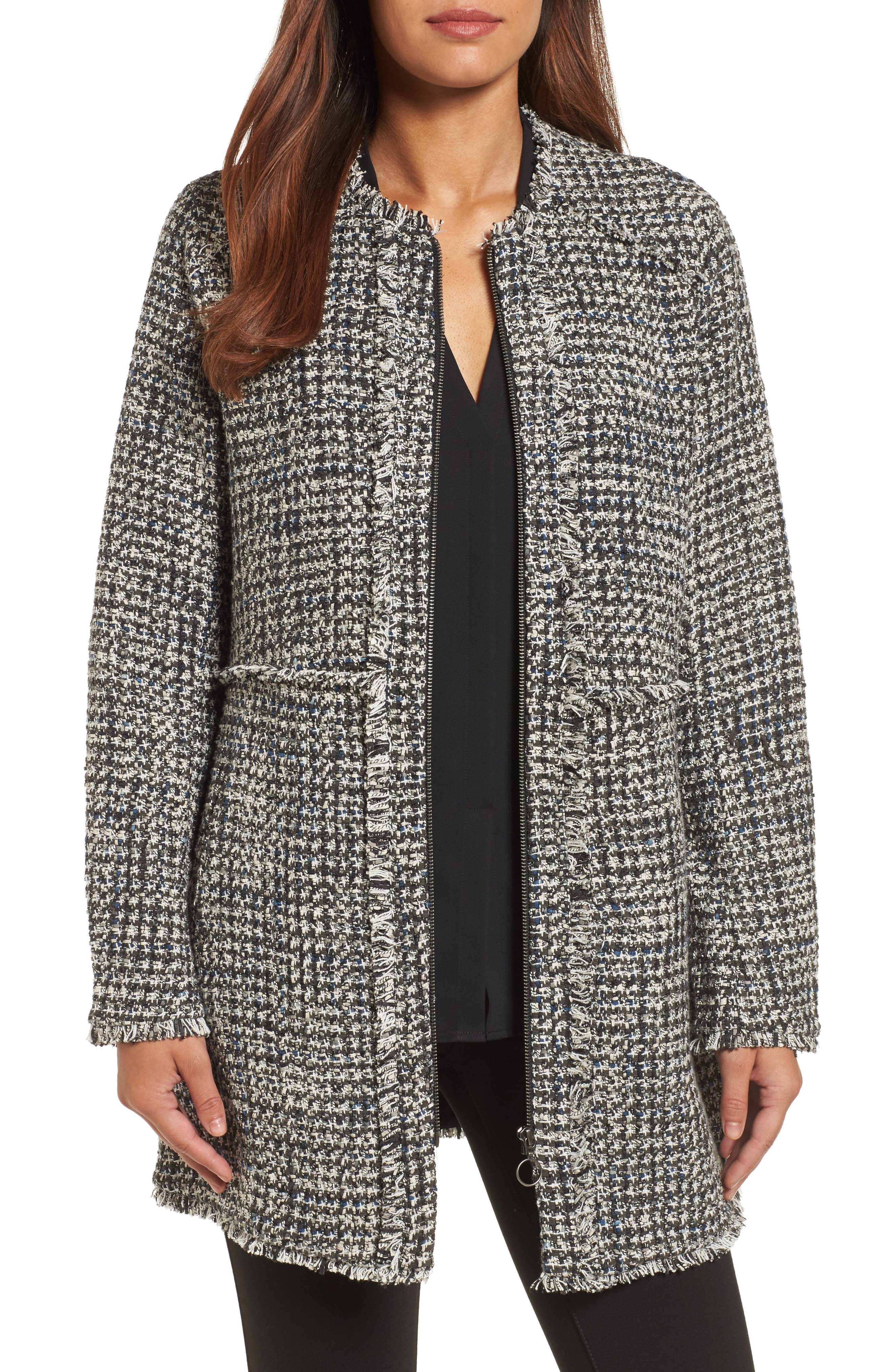 Alternate Image 1 Selected - NIC + Zoe Speckled Tweed Jacket