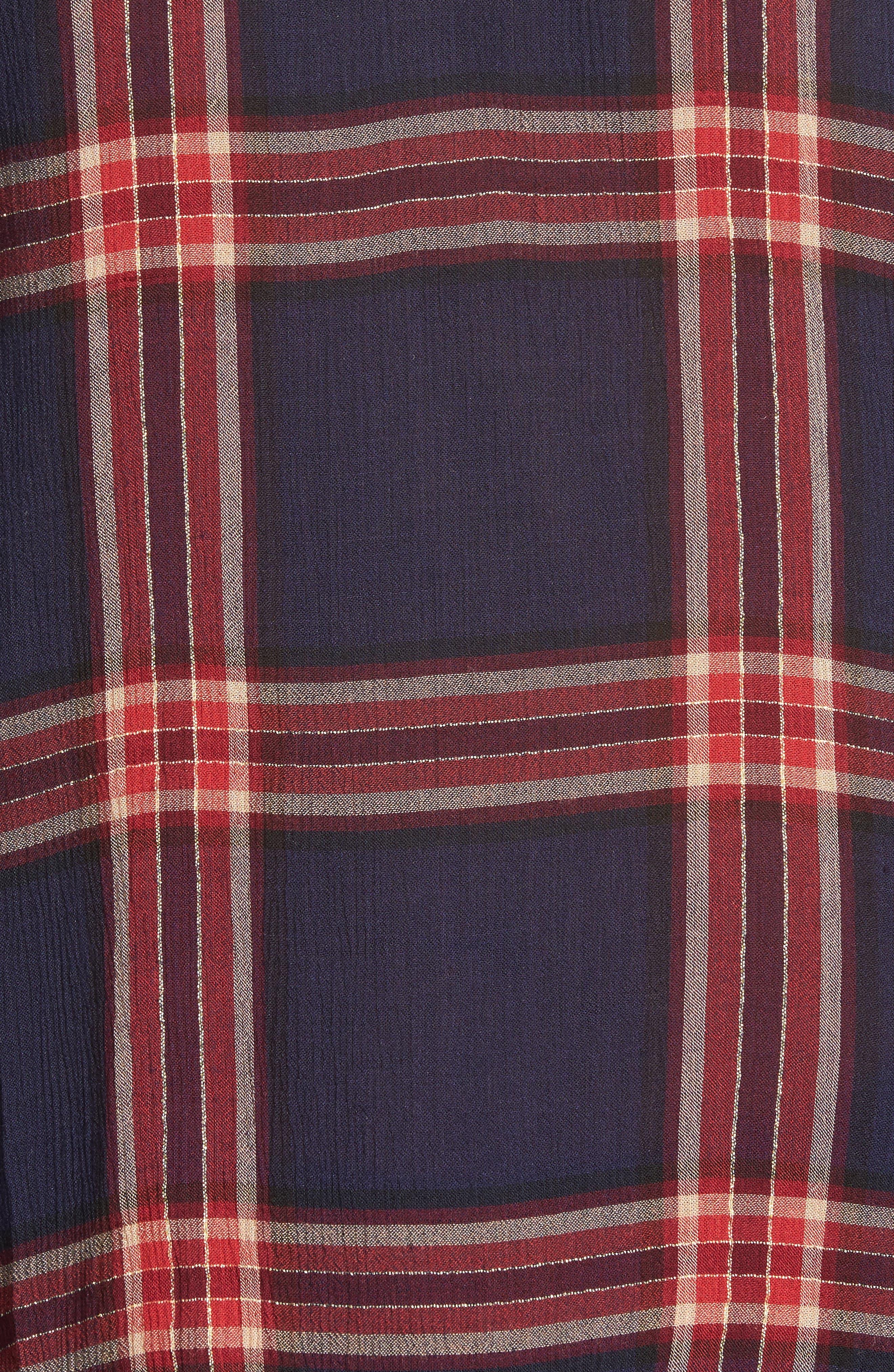 Plaid Shirt,                             Alternate thumbnail 5, color,                             Navy Multi