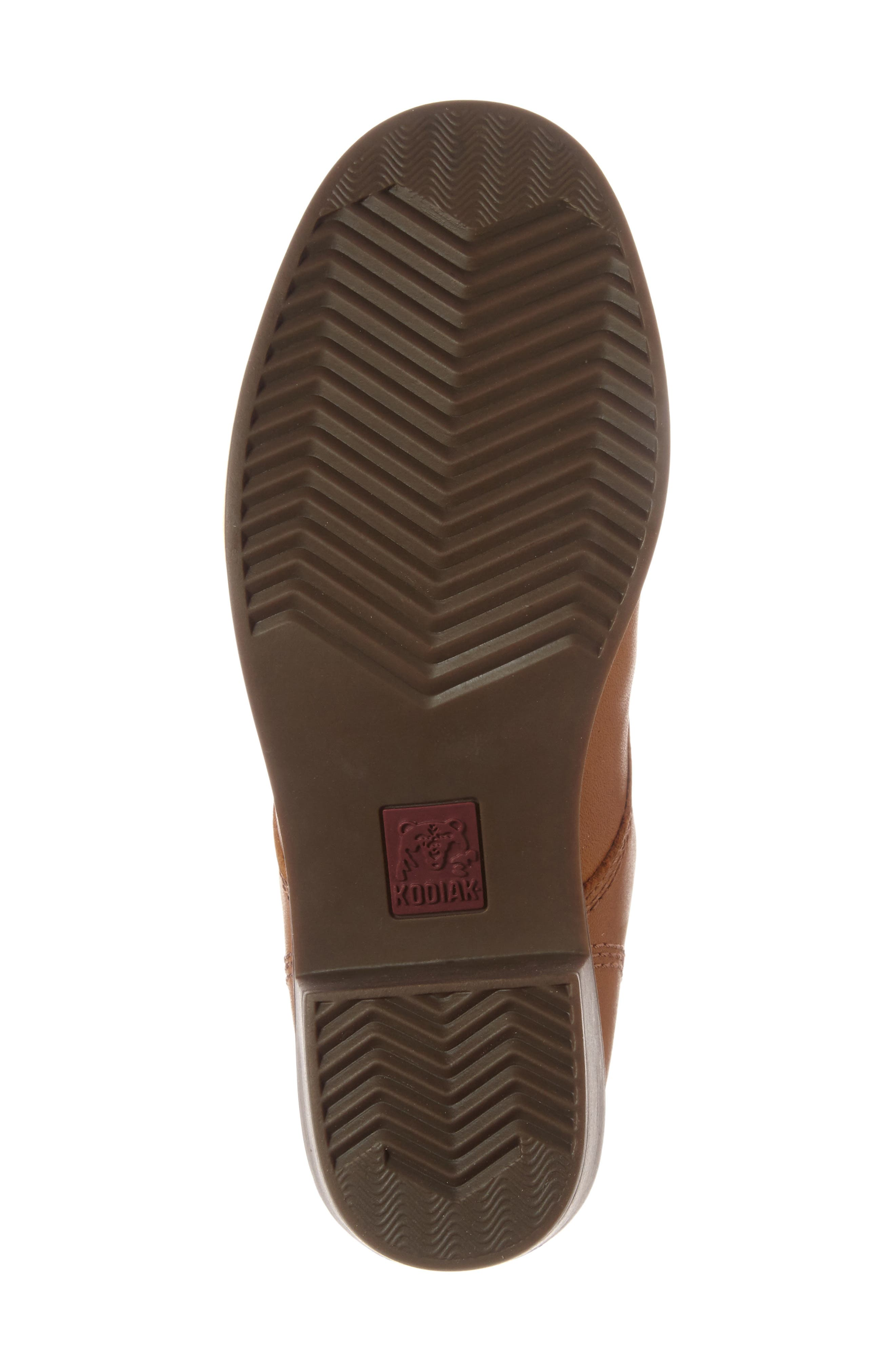 Claire Waterproof Bootie,                             Alternate thumbnail 4, color,                             Caramel Leather