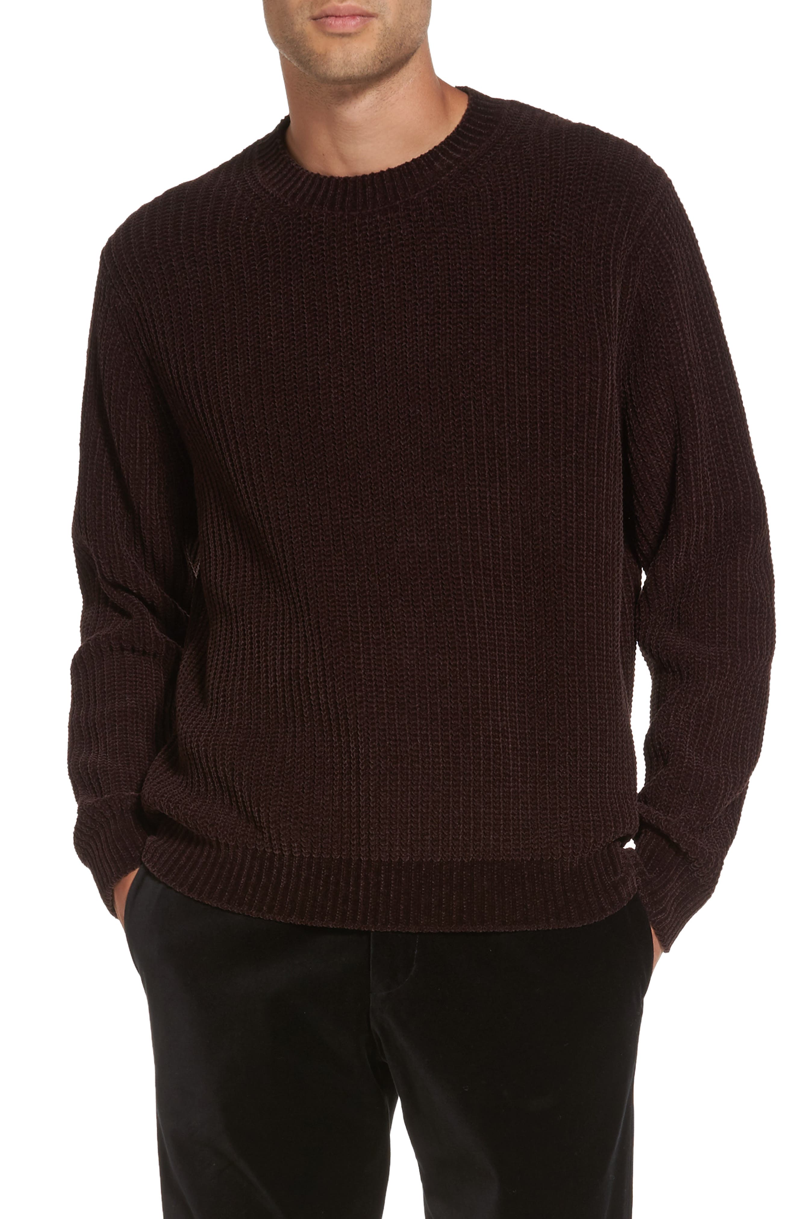 Alternate Image 1 Selected - Vince Ribbed Crewneck Sweater