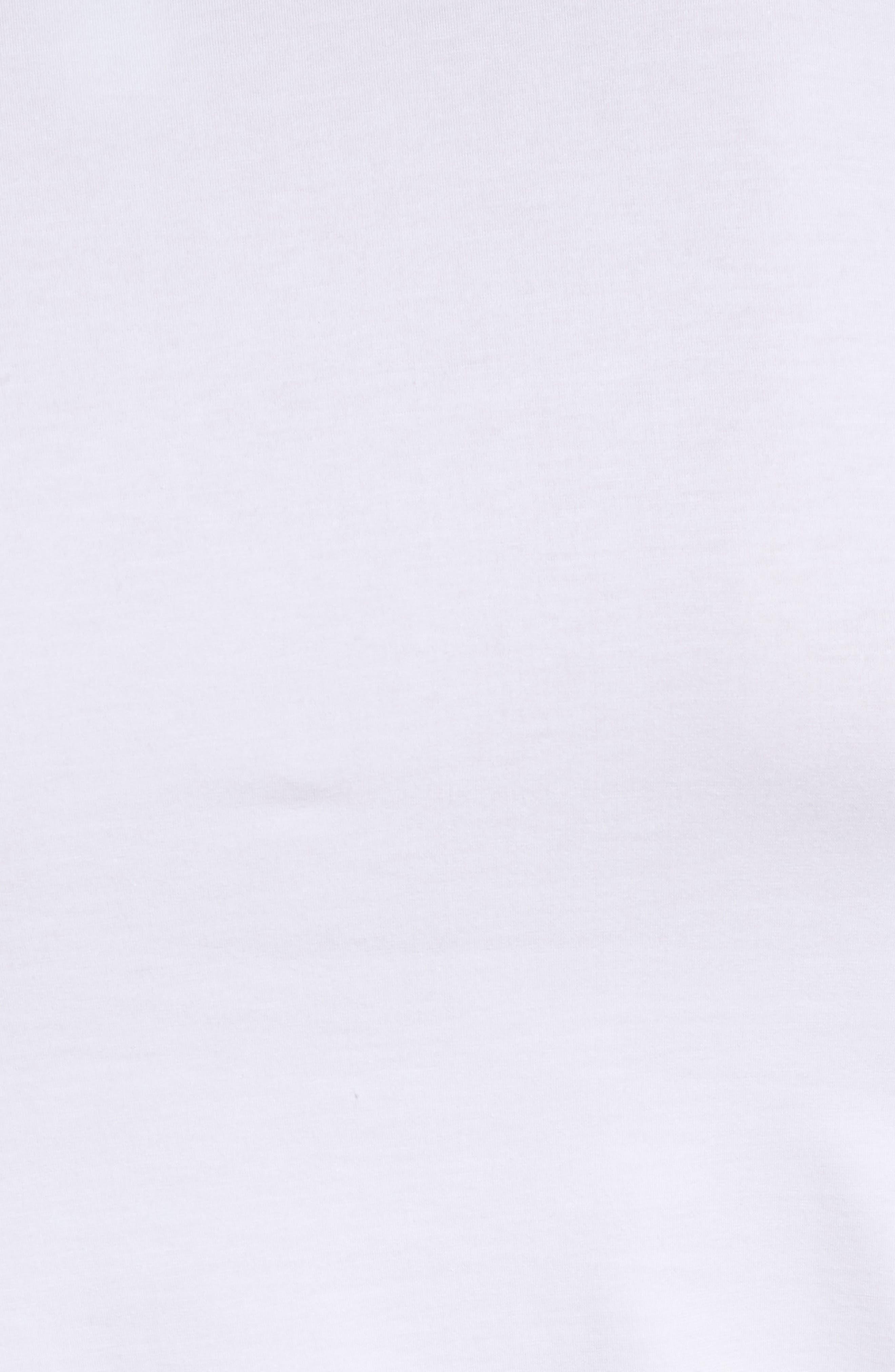 Cotton Superior V-Neck T-Shirt,                             Alternate thumbnail 5, color,                             White