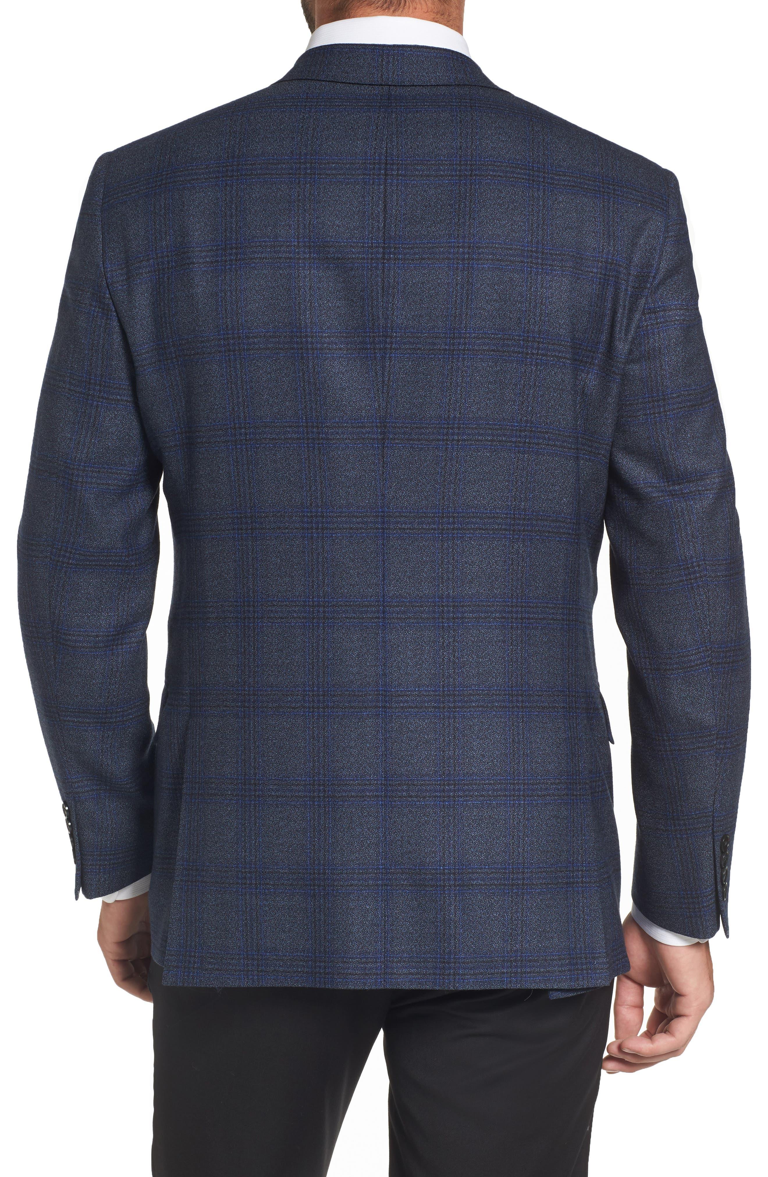Alternate Image 2  - Hart Schaffner Marx Classic Fit Plaid Wool Sport Coat