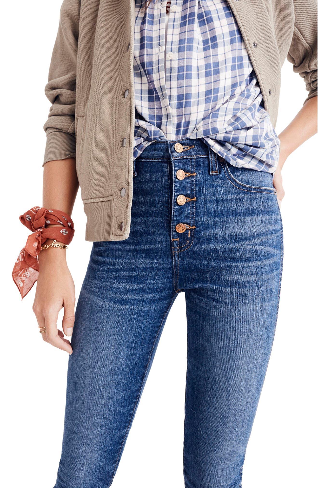 10-Inch Chewed Hem Skinny Jeans,                             Alternate thumbnail 2, color,                             Copeland