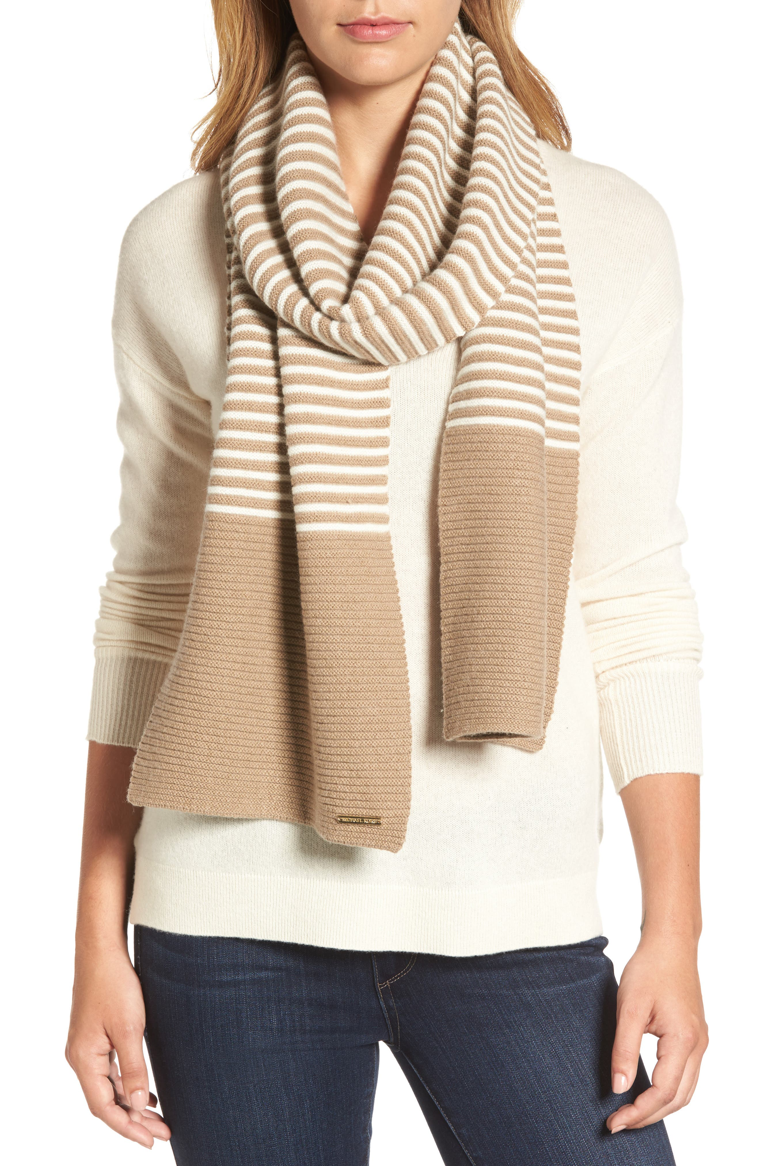 Alternate Image 1 Selected - MICHAEL Michael Kors Double Links Wool & Cashmere Scarf