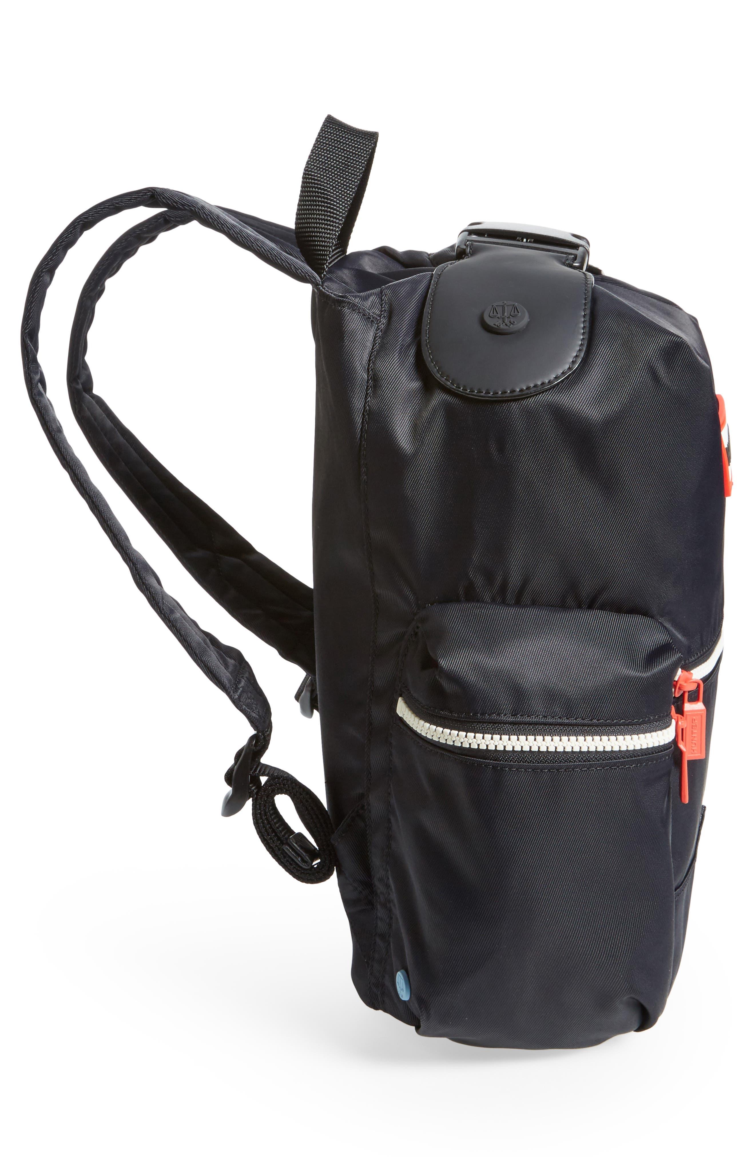 Original Mini Top Clip Nylon Backpack,                             Alternate thumbnail 5, color,                             Black