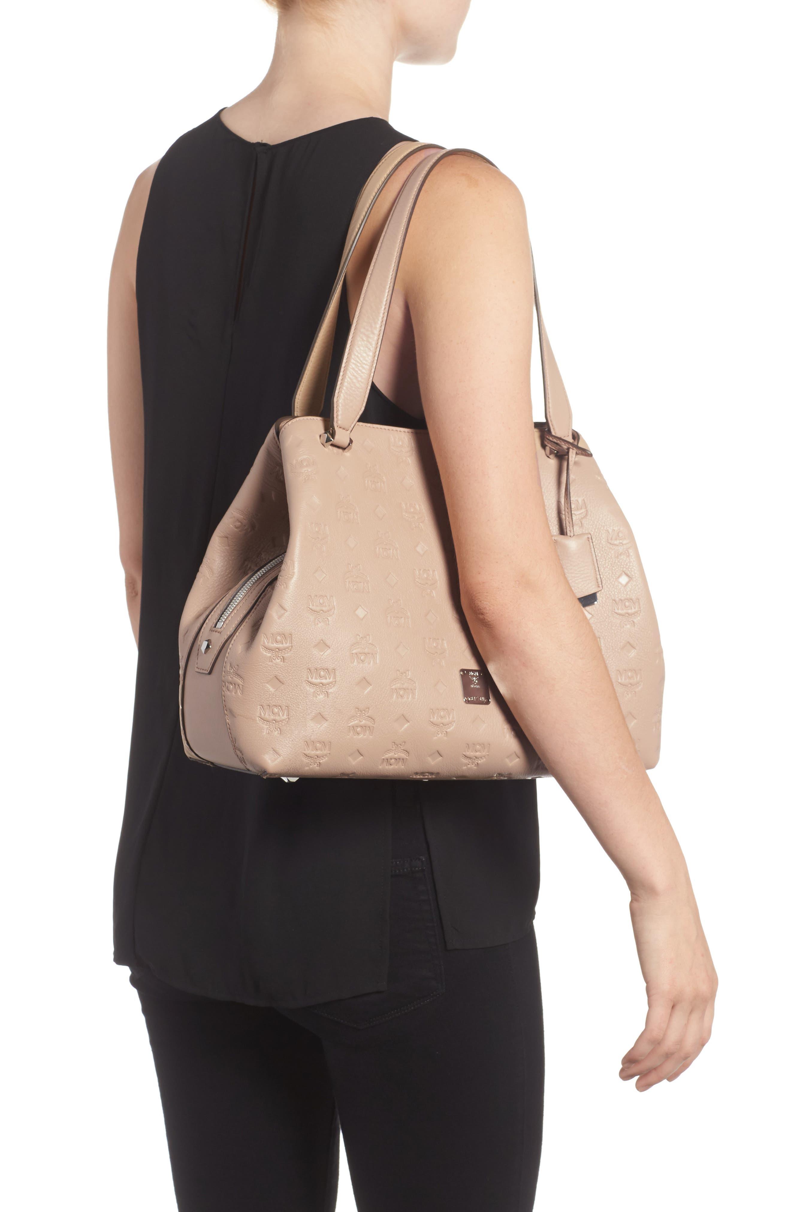 Alternate Image 2  - MCM Signature Monogrammed Leather Handbag