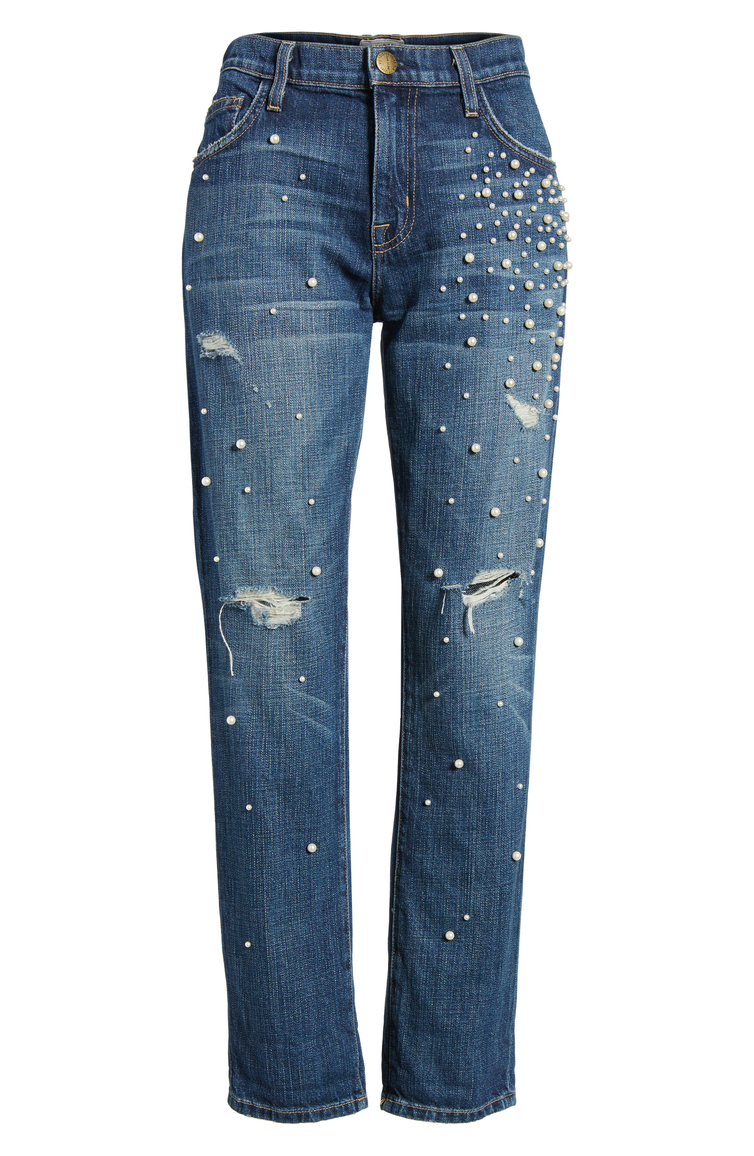 Alternate Image 6  - Current/Elliott 'The Fling' Boyfriend Jeans (Loved)