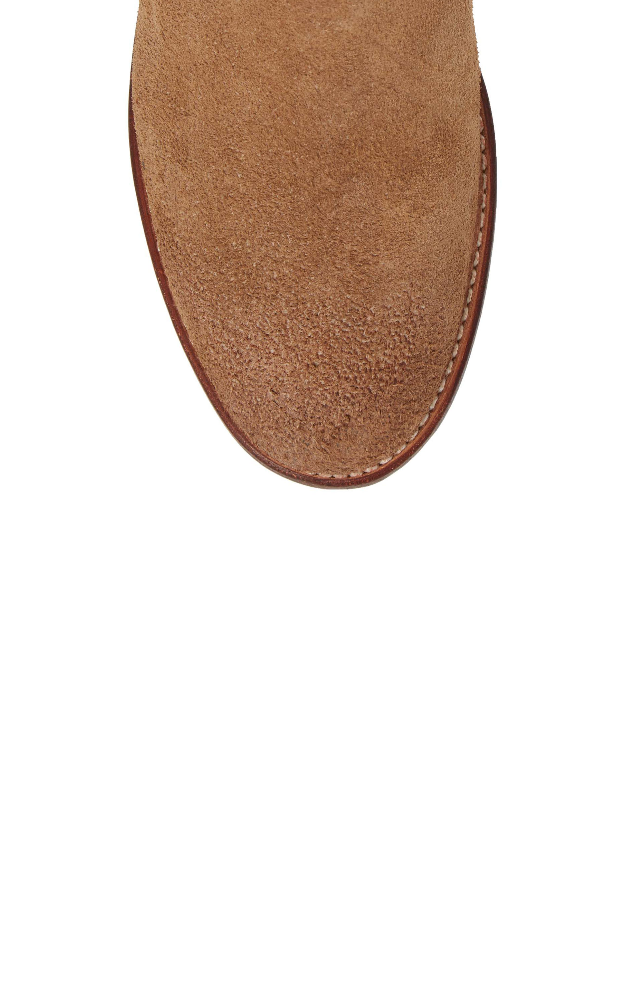 Ariat Maxwell Chelsea Boot,                             Alternate thumbnail 5, color,                             Amaretto Suede
