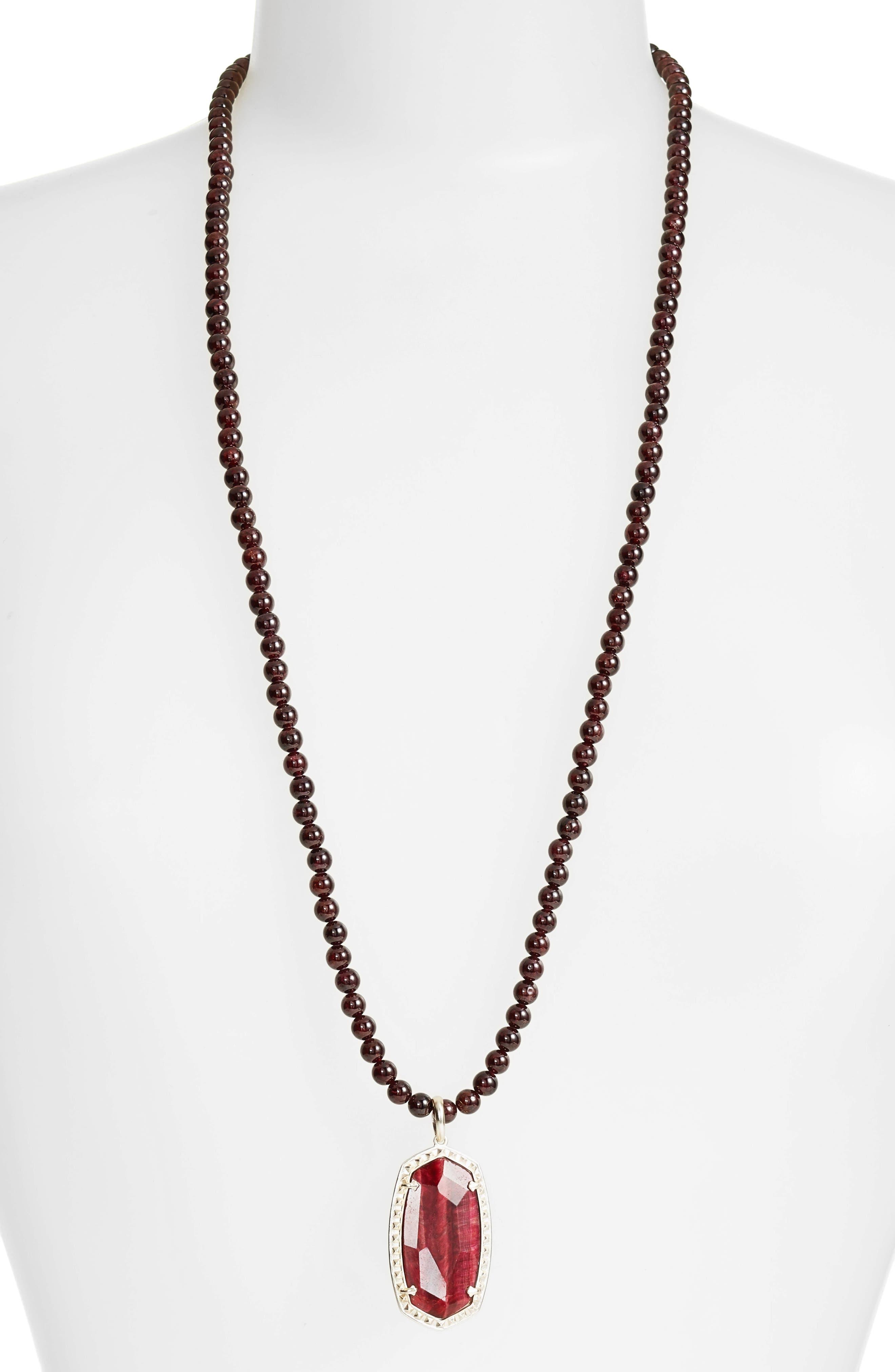 Marlow Pendant Necklace,                         Main,                         color, Bordeaux Tigers Eye/ Gold
