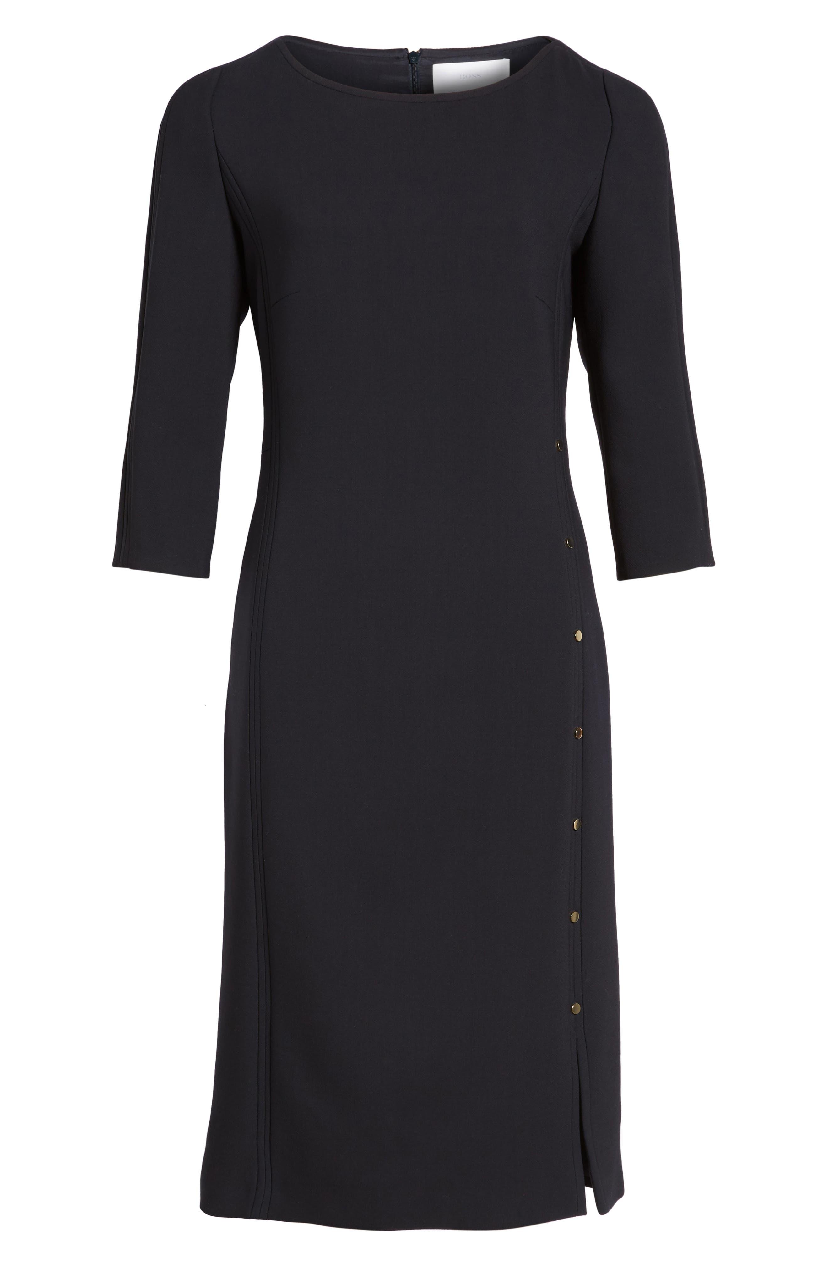 Alternate Image 6  - BOSS Dikena Wool Sheath Dress