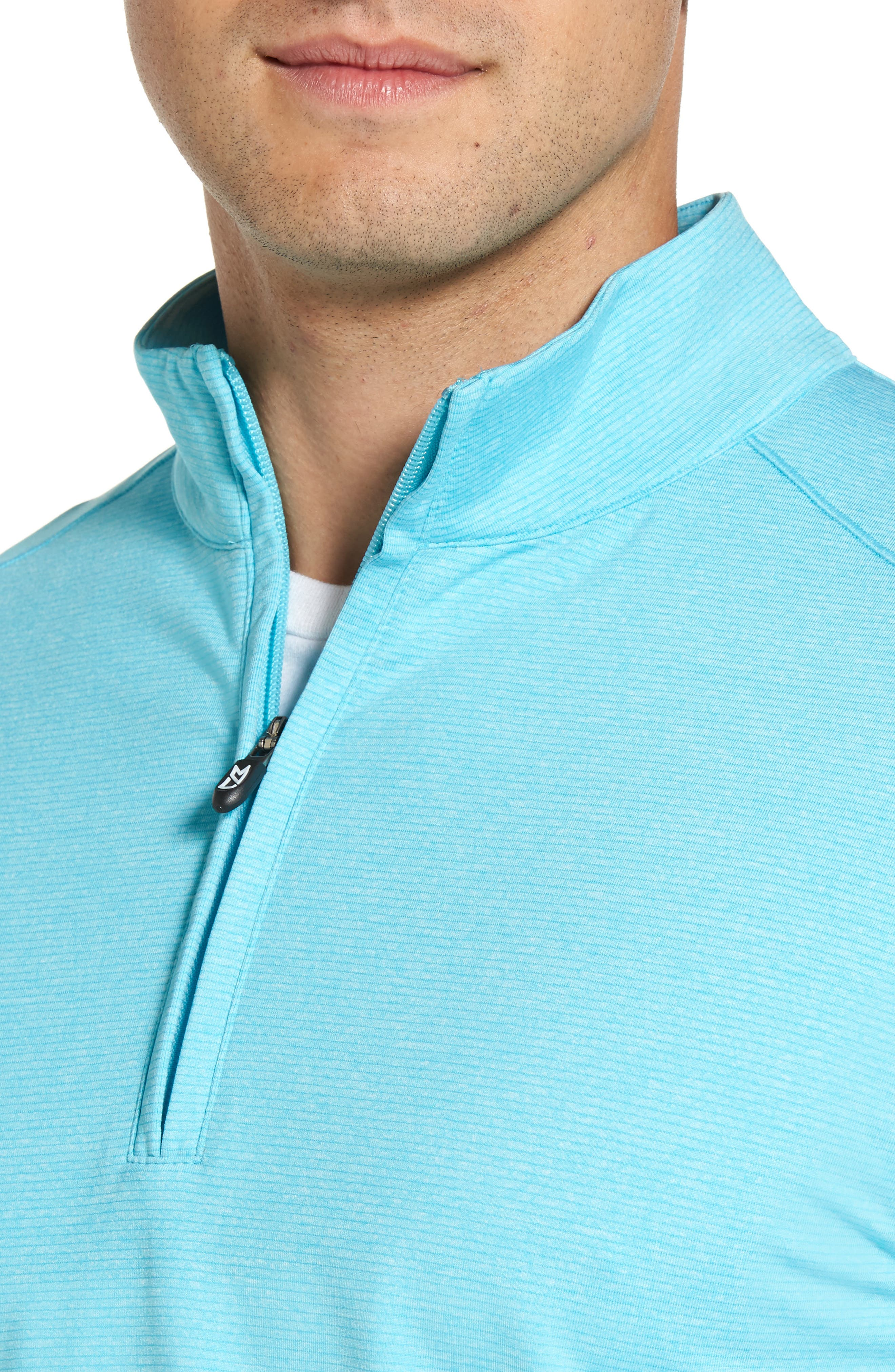 'Shoreline' Quarter Zip Pullover,                             Alternate thumbnail 4, color,                             Aruba Heather