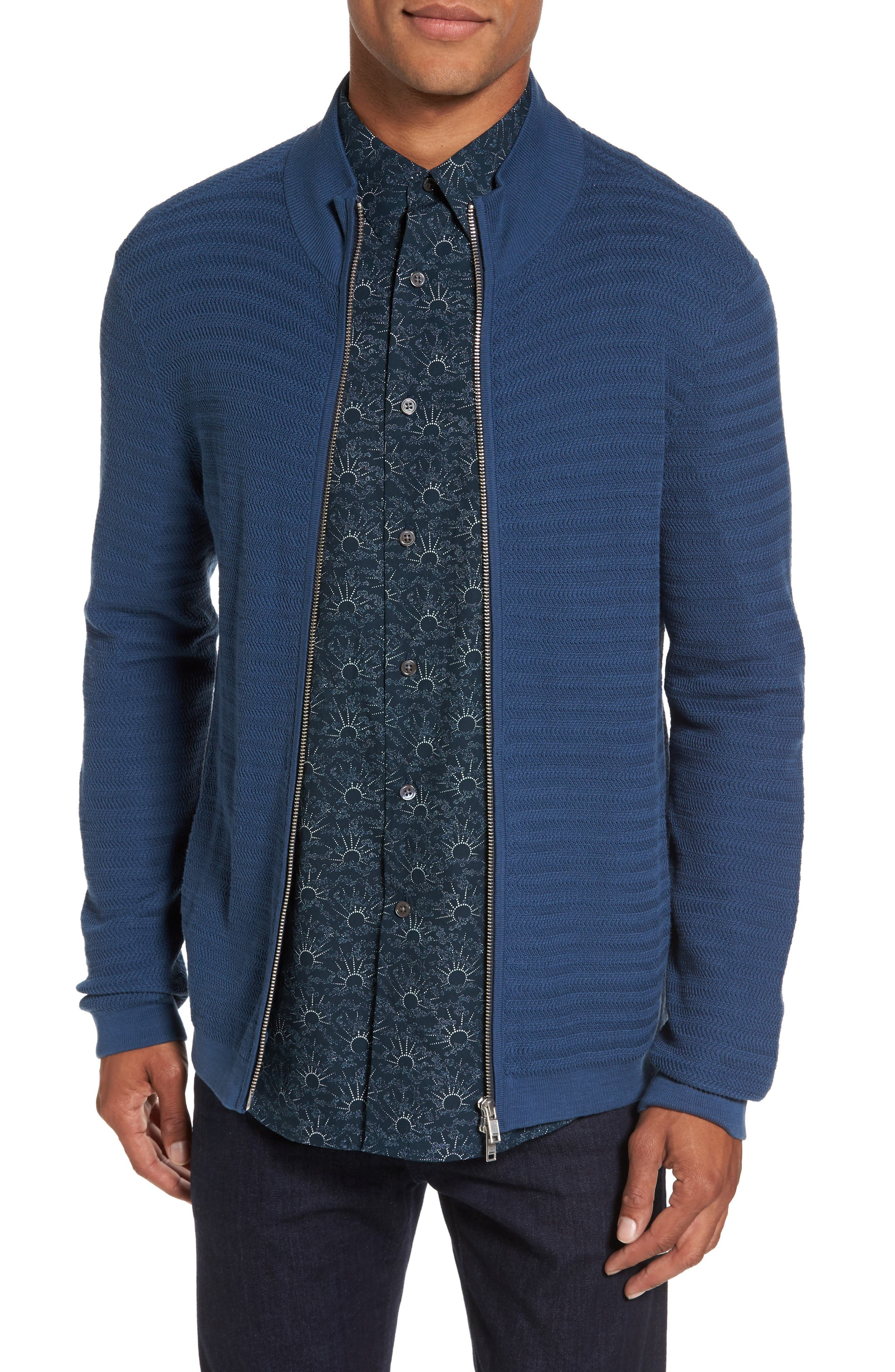 Theory Udeval Breach Trim Fit Zip Sweater