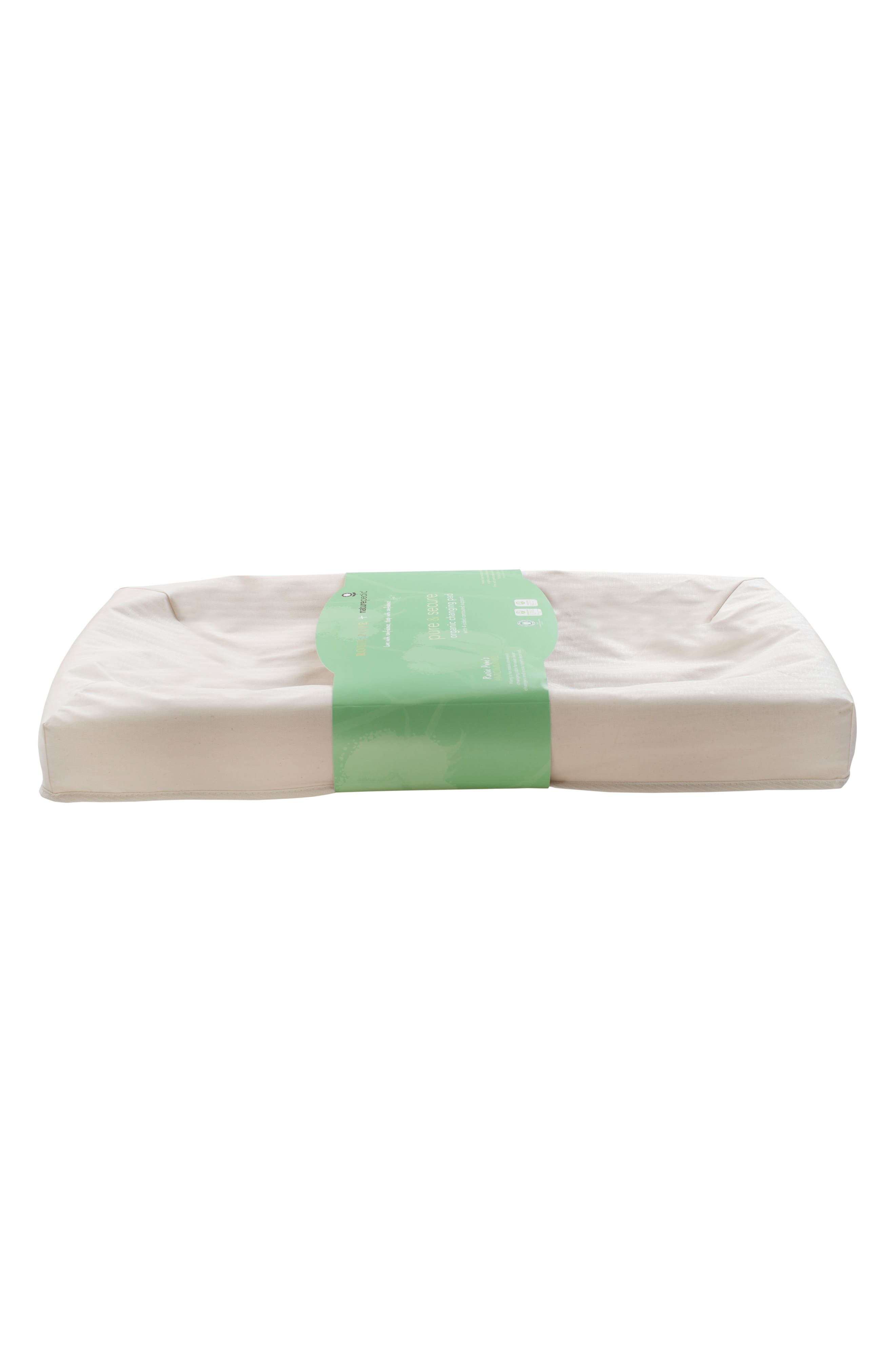 x Rosie Pope Pure & Secure Four-Sided Changing Pad,                             Alternate thumbnail 2, color,                             Natural