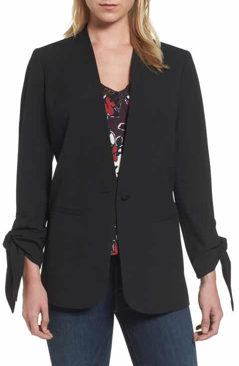 Halogen® Tie Sleeve Blazer (Regular & Petite) Cheap