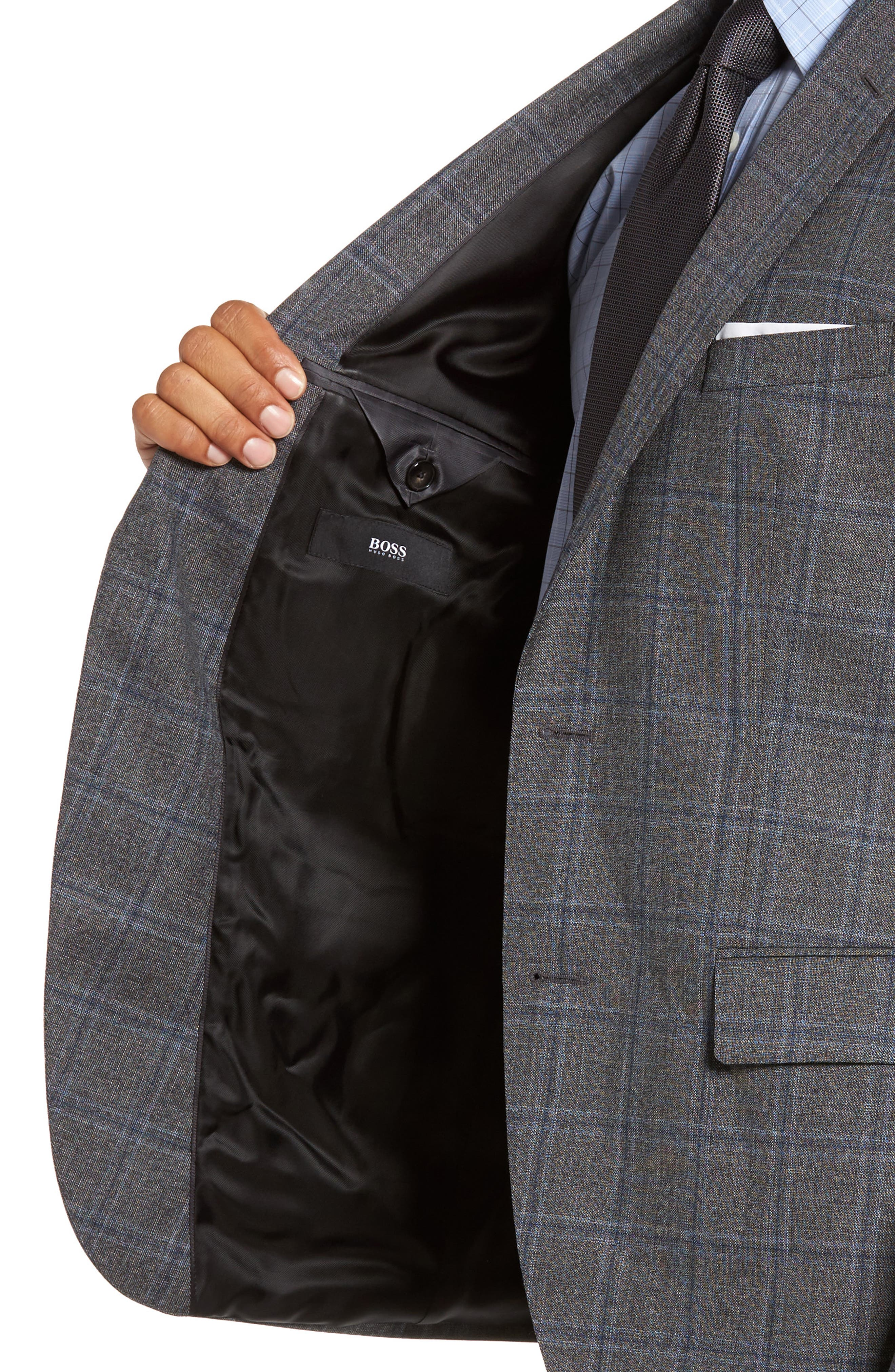 Alternate Image 4  - BOSS Jeen Trim Fit Wool Sport Coat