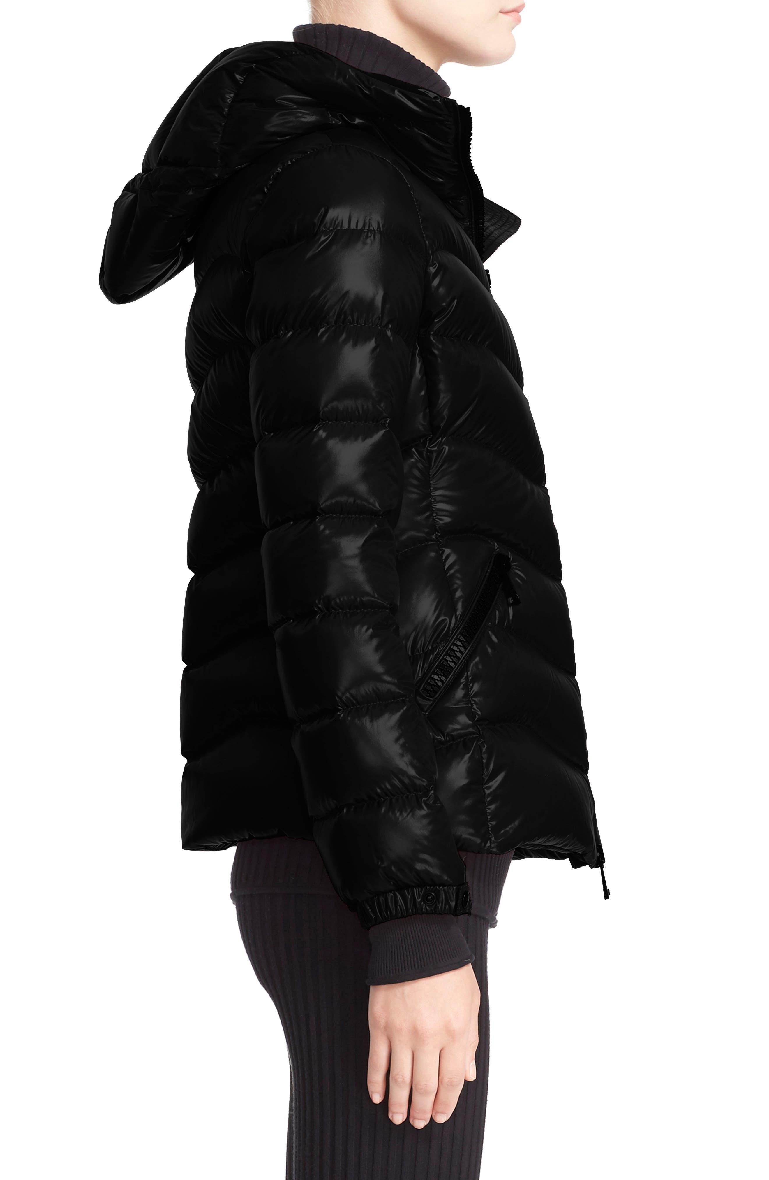 Alternate Image 5  - Moncler Anthia Water Resistant Shiny Nylon Hooded Down Puffer Jacket