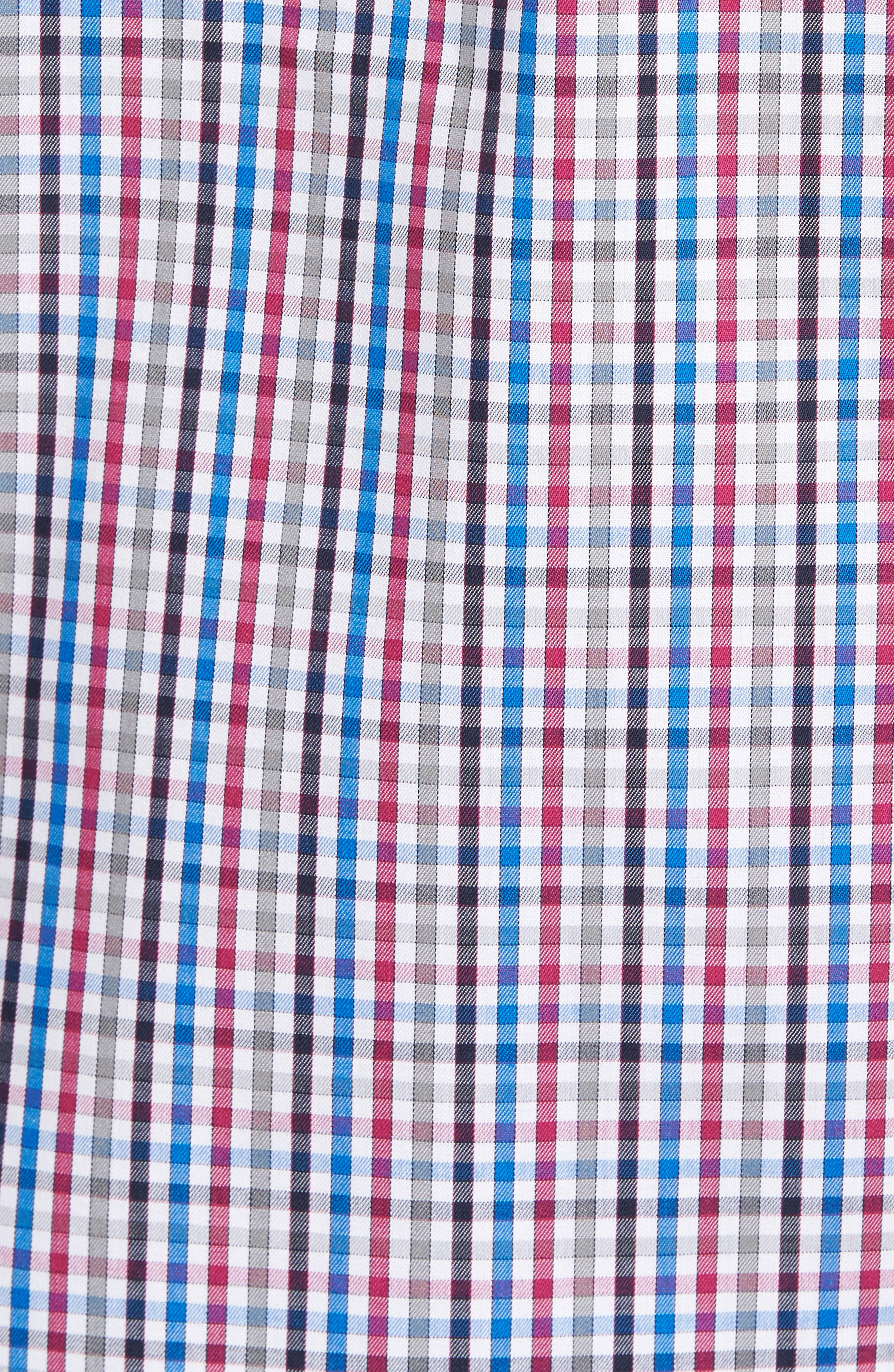 Baxter Epic Easy Care Classic Fit Plaid Sport Shirt,                             Alternate thumbnail 5, color,                             Tannin