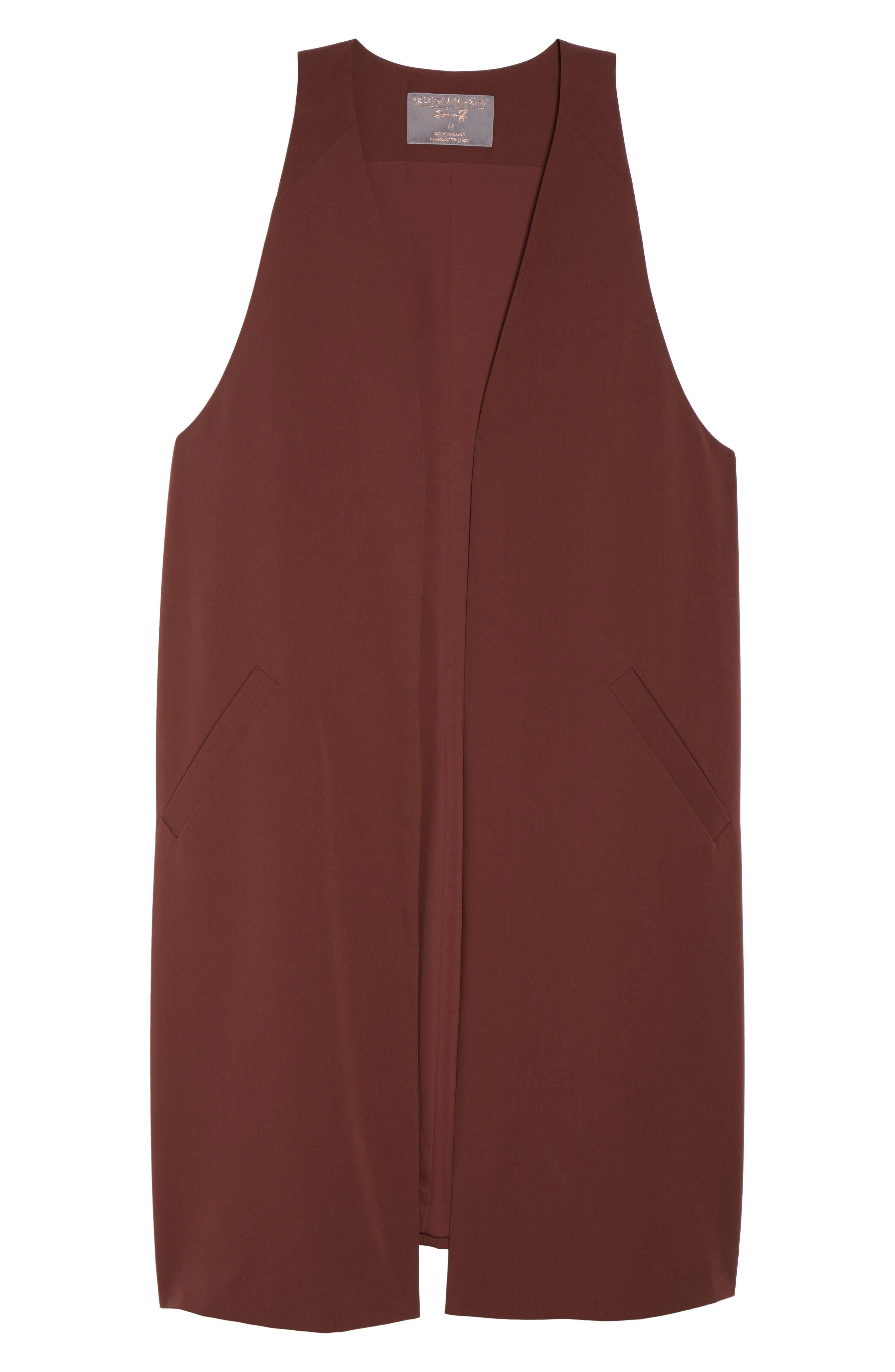 Alternate Image 6  - Melissa McCarthy Seven7 Open Front Longline Vest (Plus Size)