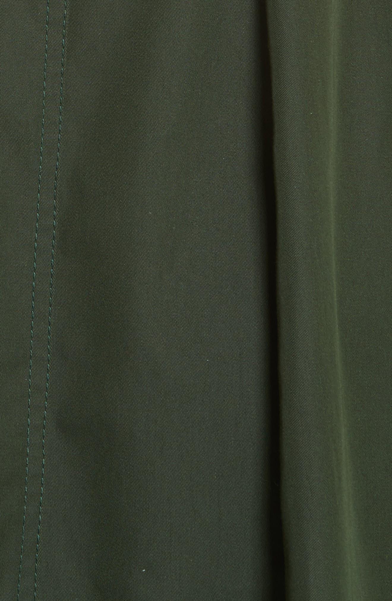 Safari Micro Twill Dress,                             Alternate thumbnail 5, color,                             Fern
